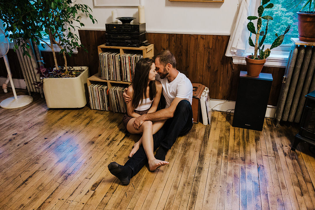 Engagement photos AirBnB Loft Winnipeg