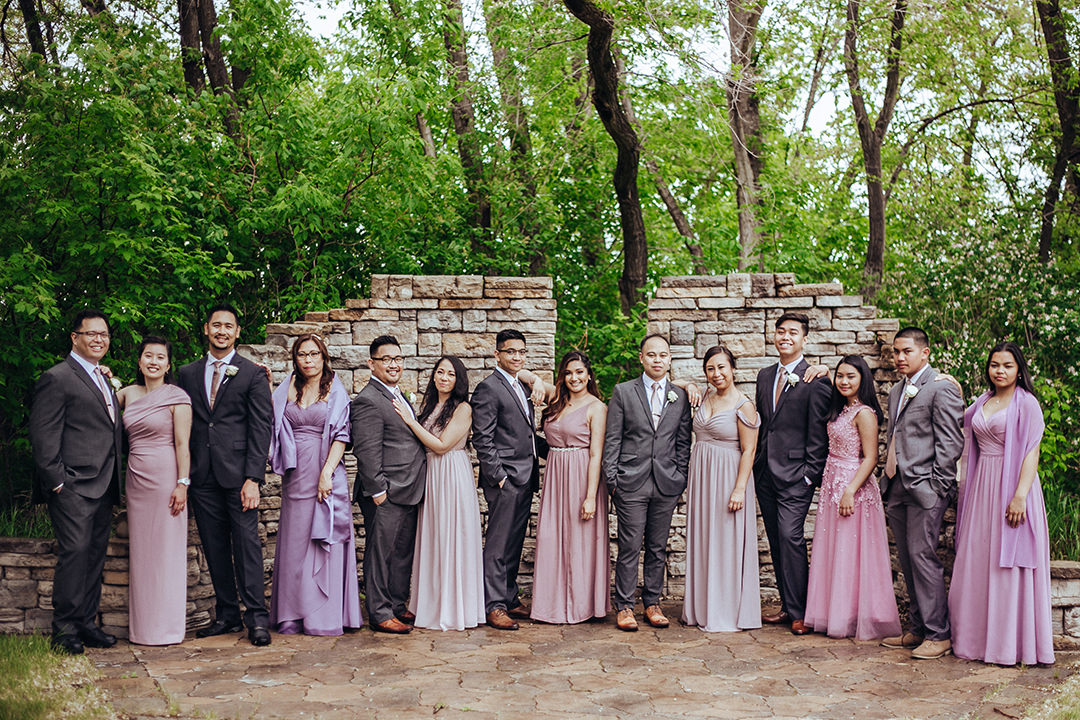Evergreen Village Wedding Party photo