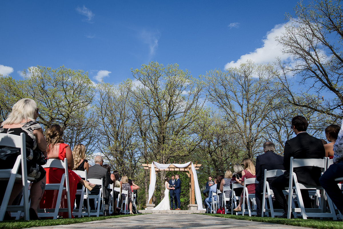 St. Boniface Golf Course wedding photo