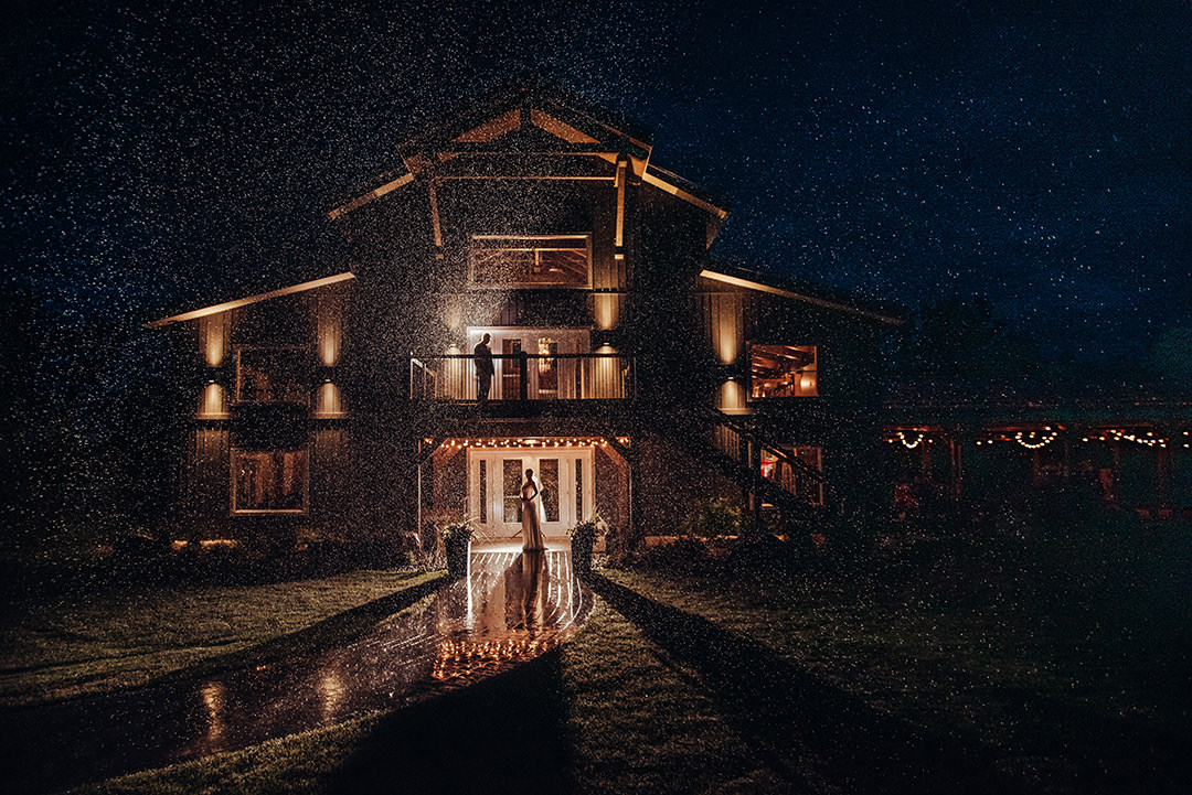 Hawthorn Estates Barn Wedding venue night Photos