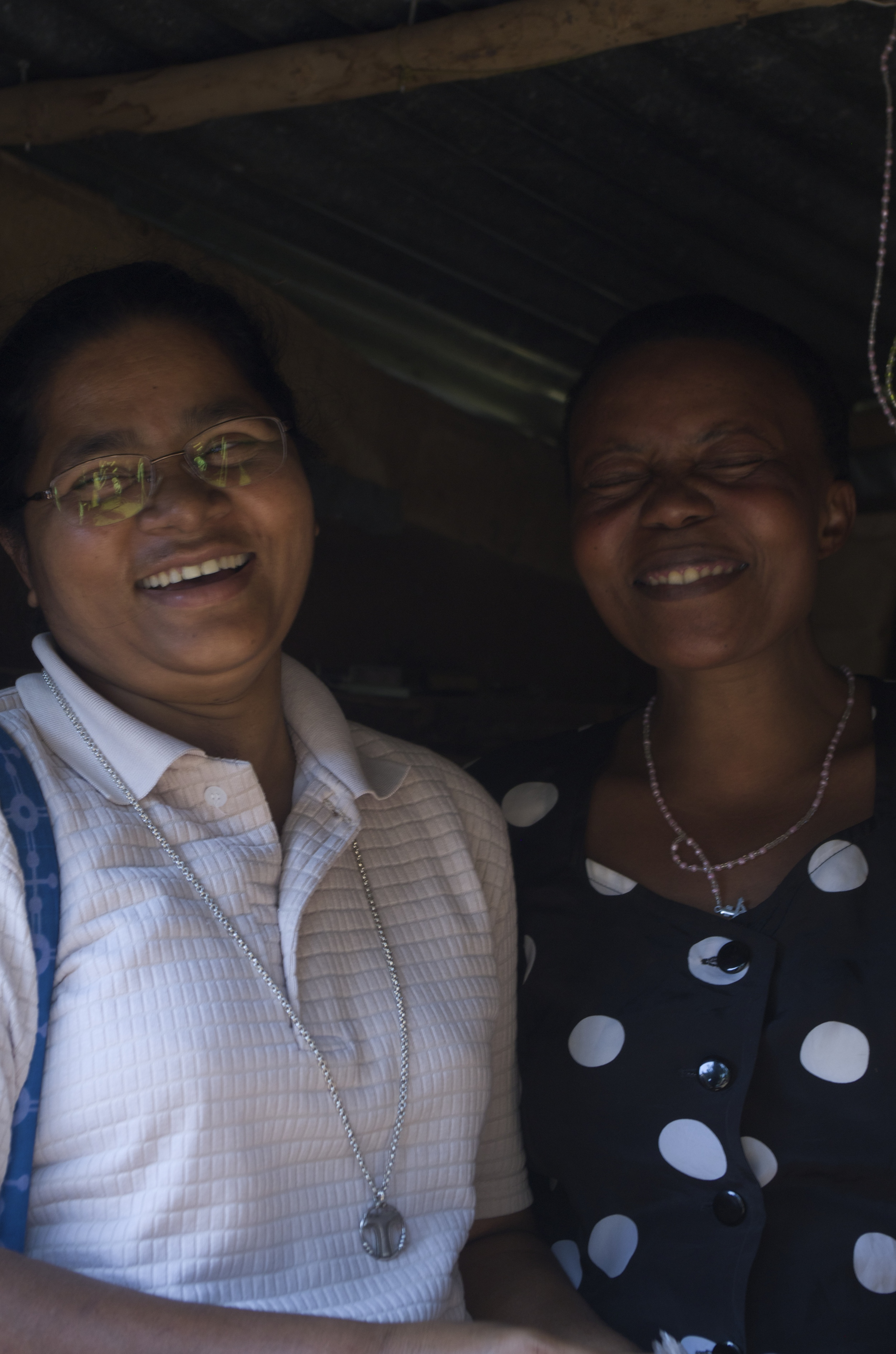 Sister Neera and Agnes, one of the Kemondo women that Sister Neera has been training.