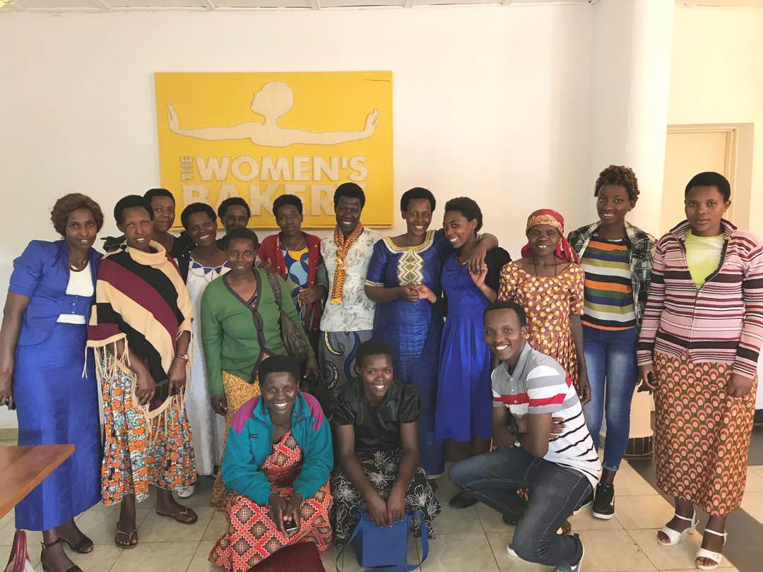 june 2018 - The trainees visited the Kigali flagship to learn about bakery operations in real-time. They heard about the Kigali bakery employees' experiences in inventory management, production, and selling.