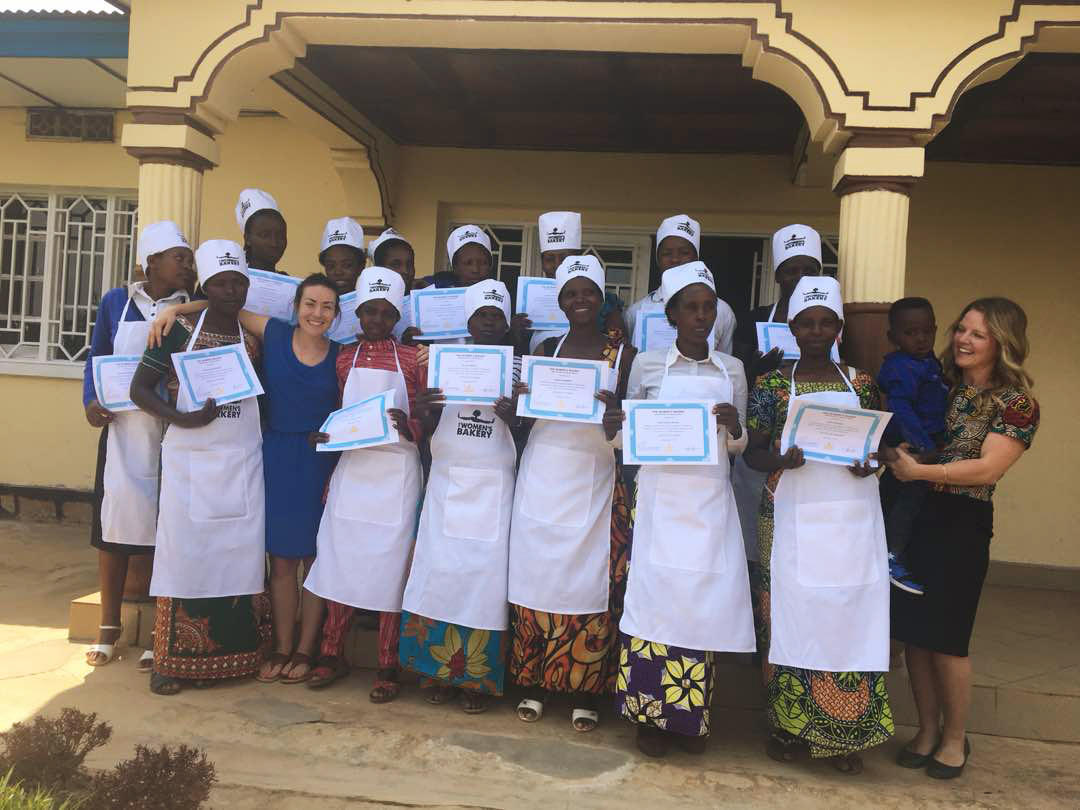july 2018 - This is TWB's 7th graduation, bringing our trained women total to nearly 100. Through education, we enable women to thrive through sustainable, gainful employment at bakeries. This is bread power.