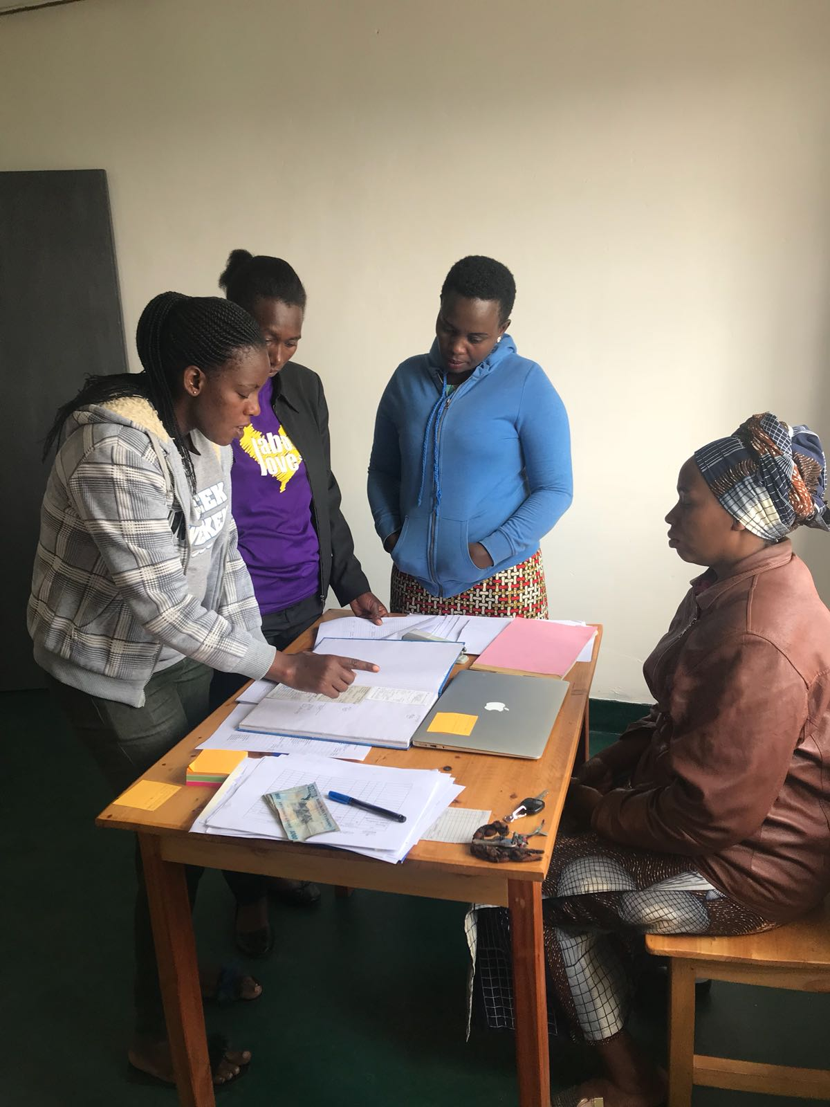 August 2018 - Bakery Operations Managers trainees learn all aspects of running a bakery. One of the most essential is record-keeping. Our trainees visited the Gicumbi Bakery to learn the processes in real-time.