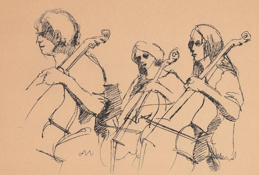 Marilynne Bradley - Three Cellists
