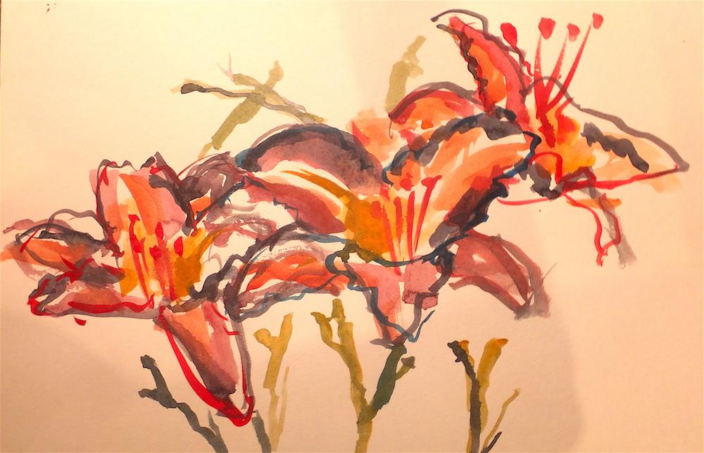 marilynne bradley, lilies