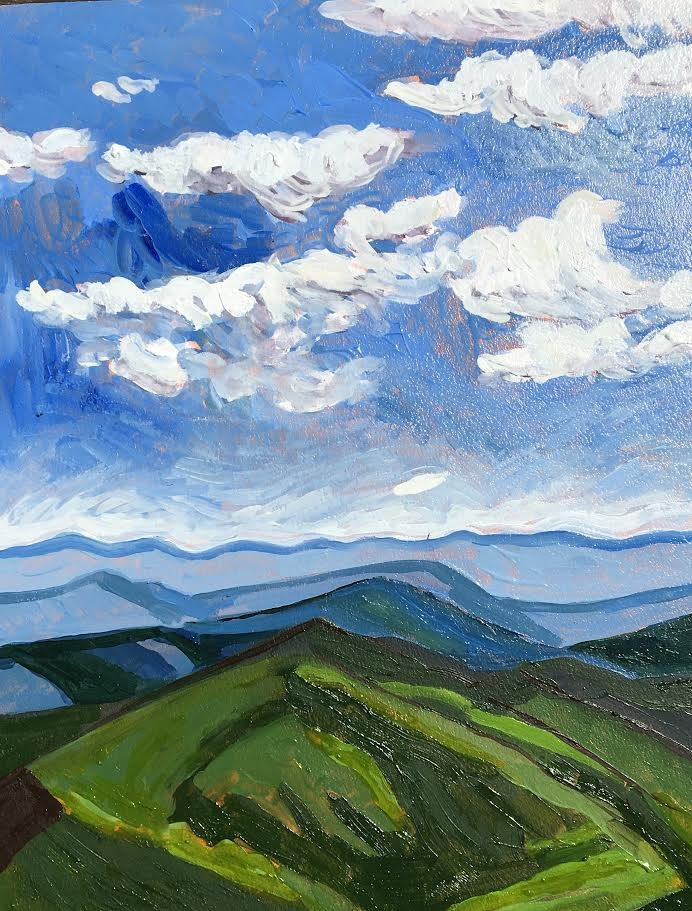 melissa bauer, view from the mountains