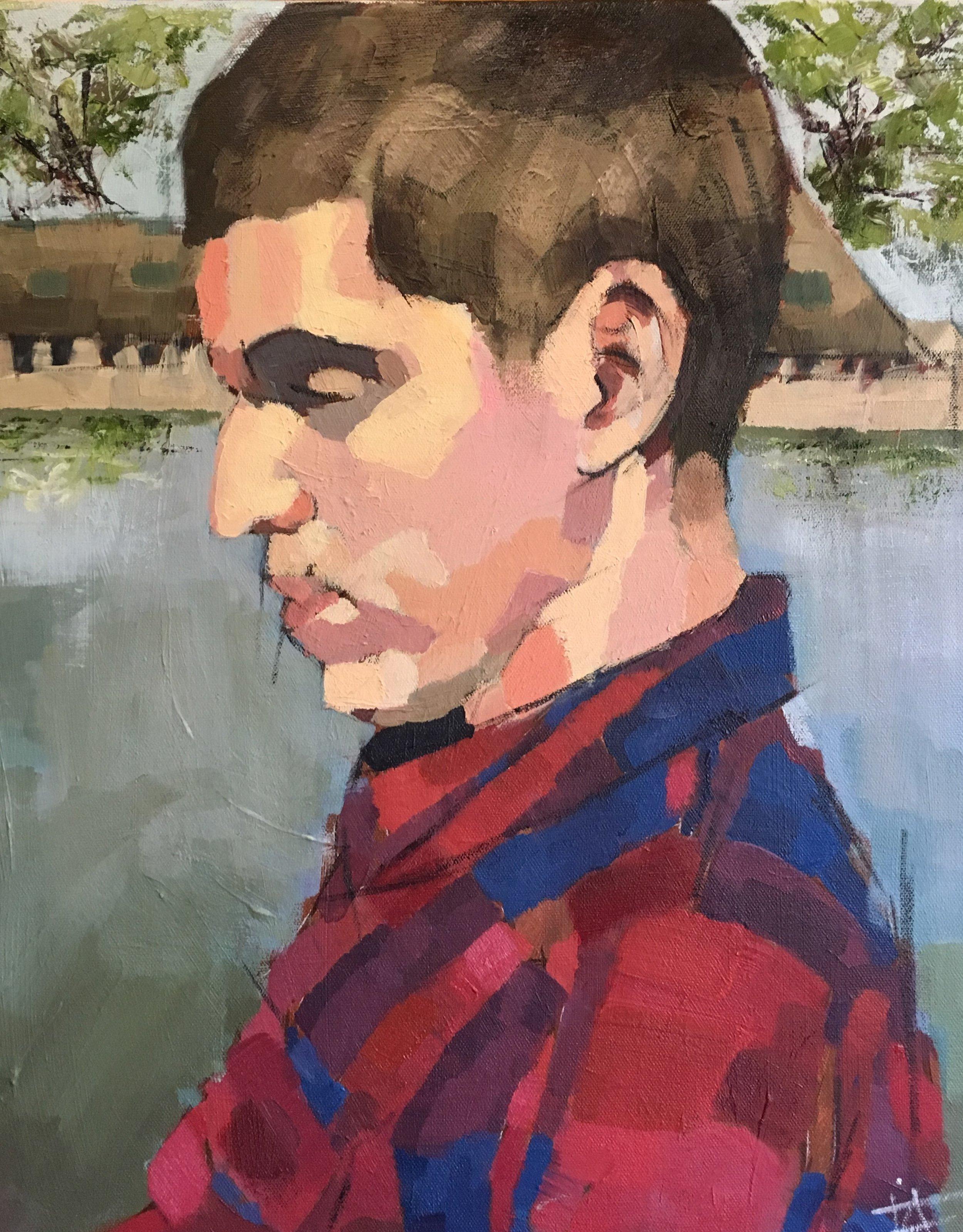 Favian Anello, Portrait on a Lake