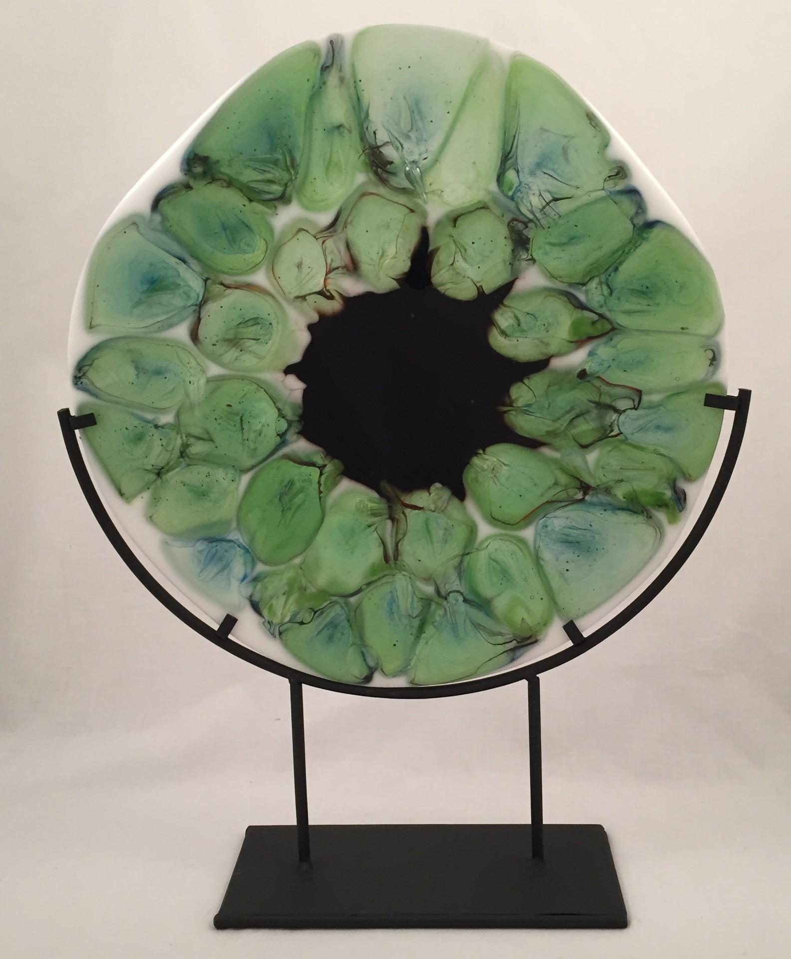 Wanda Tyner, Green Blooming Abstract