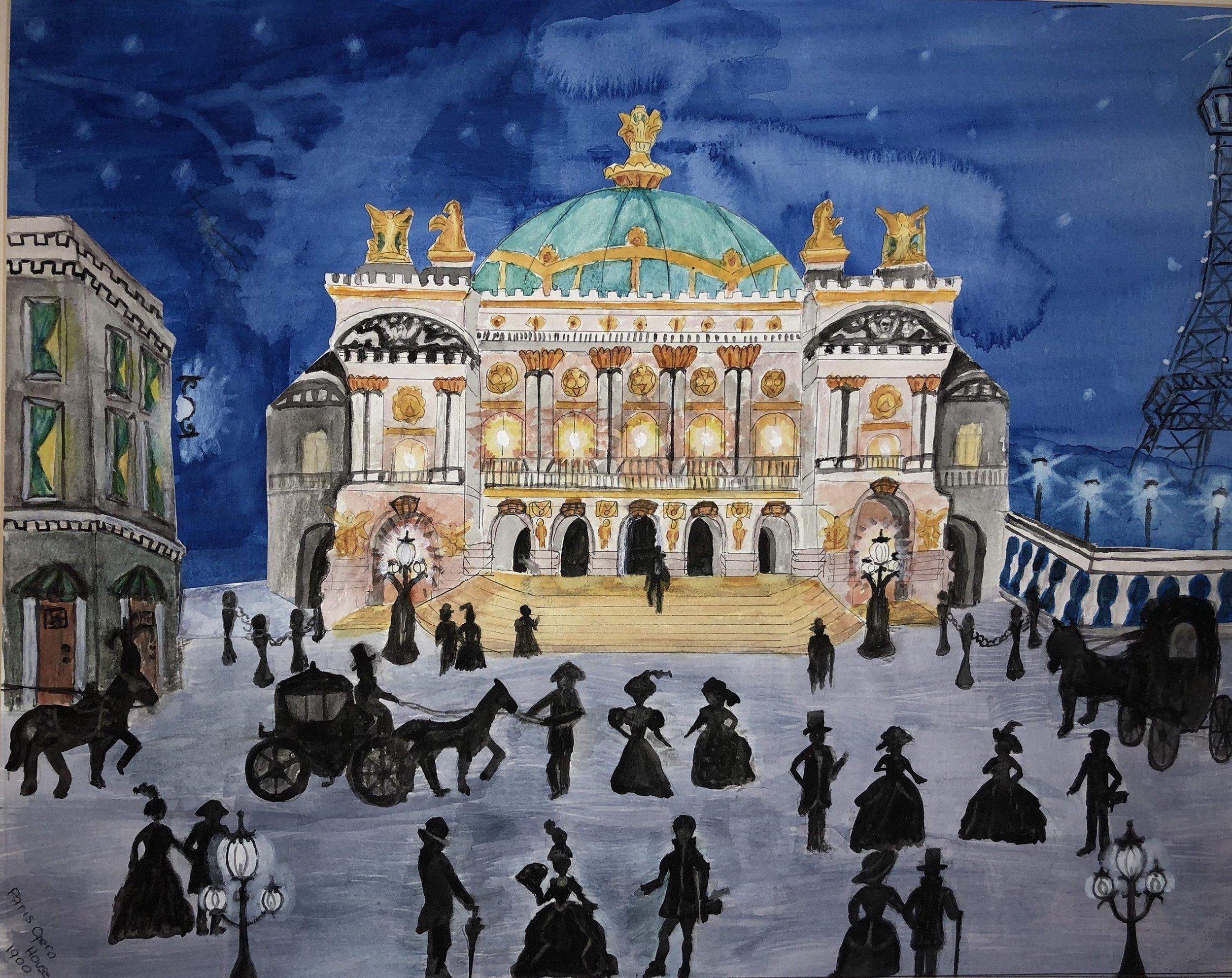 Paris Opera House 1900s, Rosemarie Macher