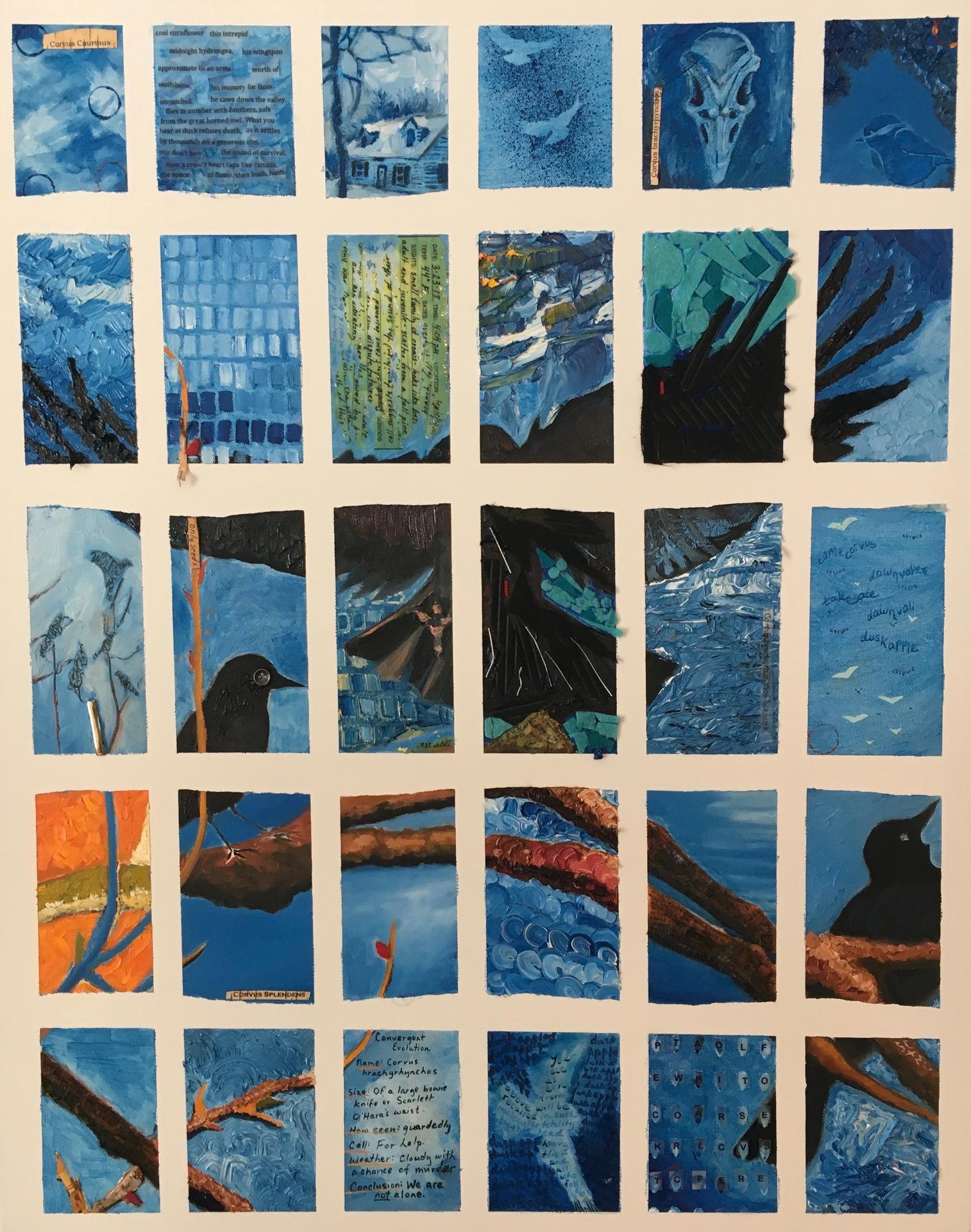 Almanac #5b: Almanac with Crows, Michael Chaney