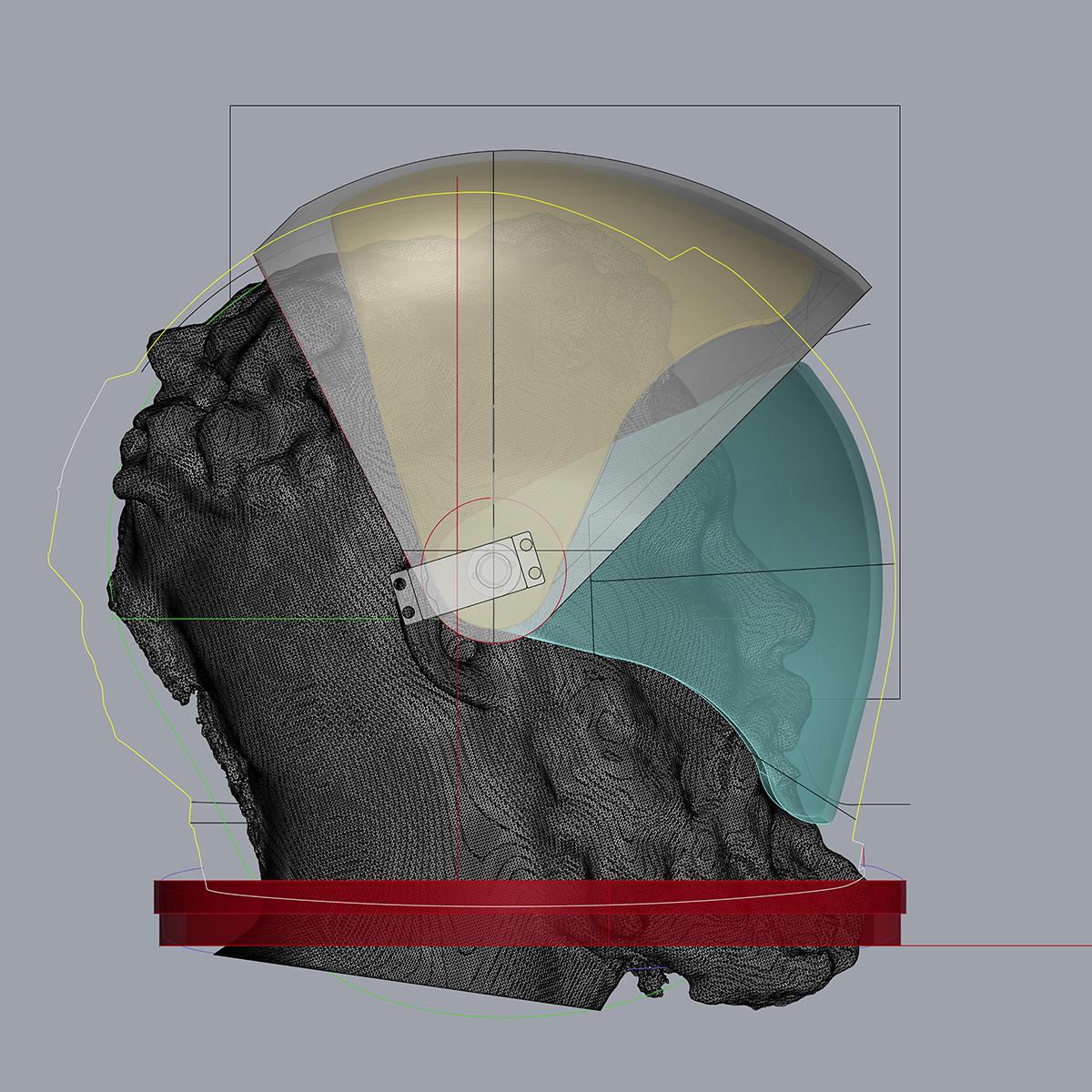 Space Helmet Design (Side View), Sidney Church