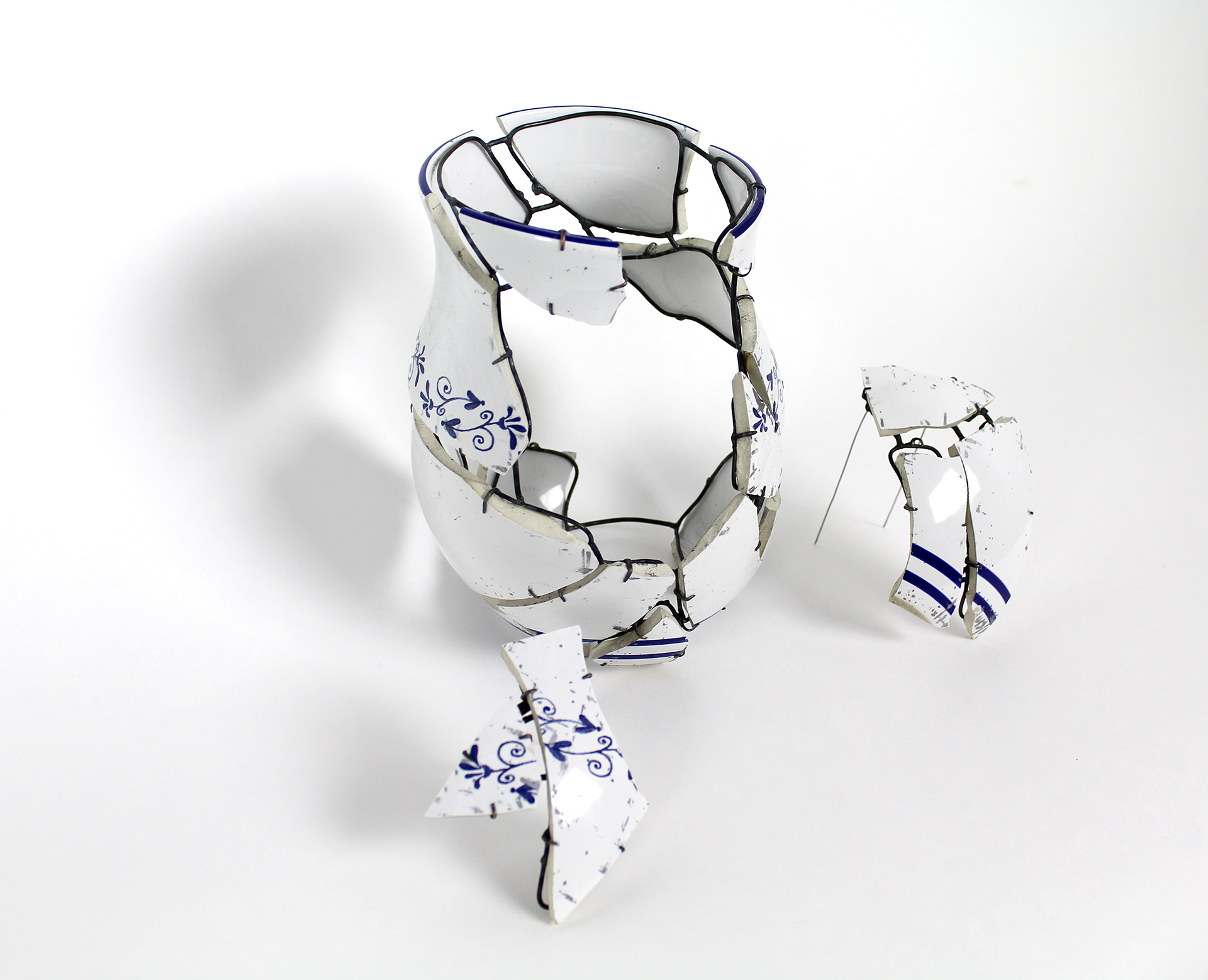 Vase with Two Brooches, Rachel Andrea Davis