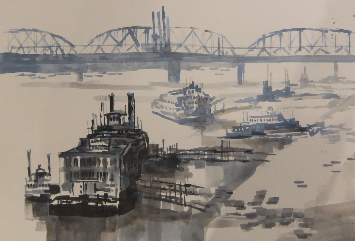 """Blue Riverfront"" Marilynne Bradley"