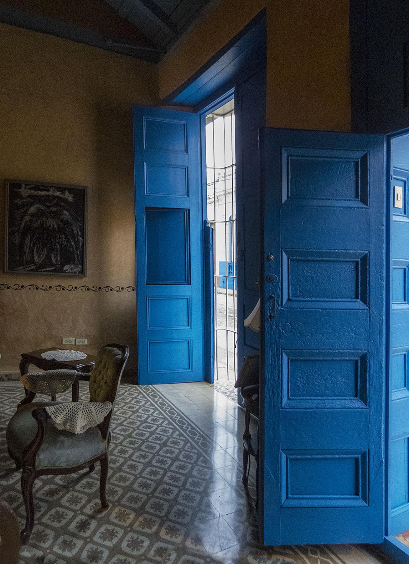 """""""Blue Doors - Trinidad, Cuba"""" Deby Gilley"""