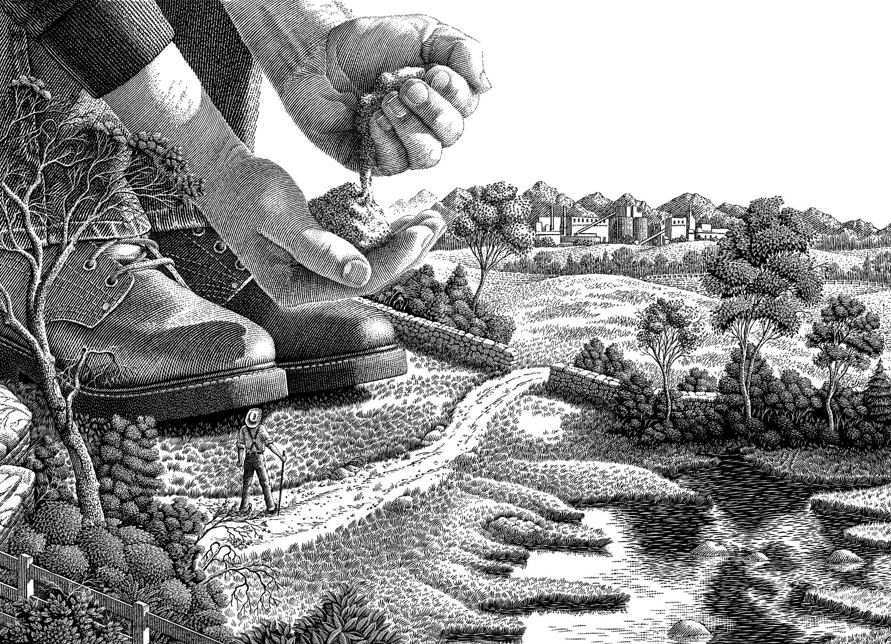 Giant Farmer, Michael Halbert