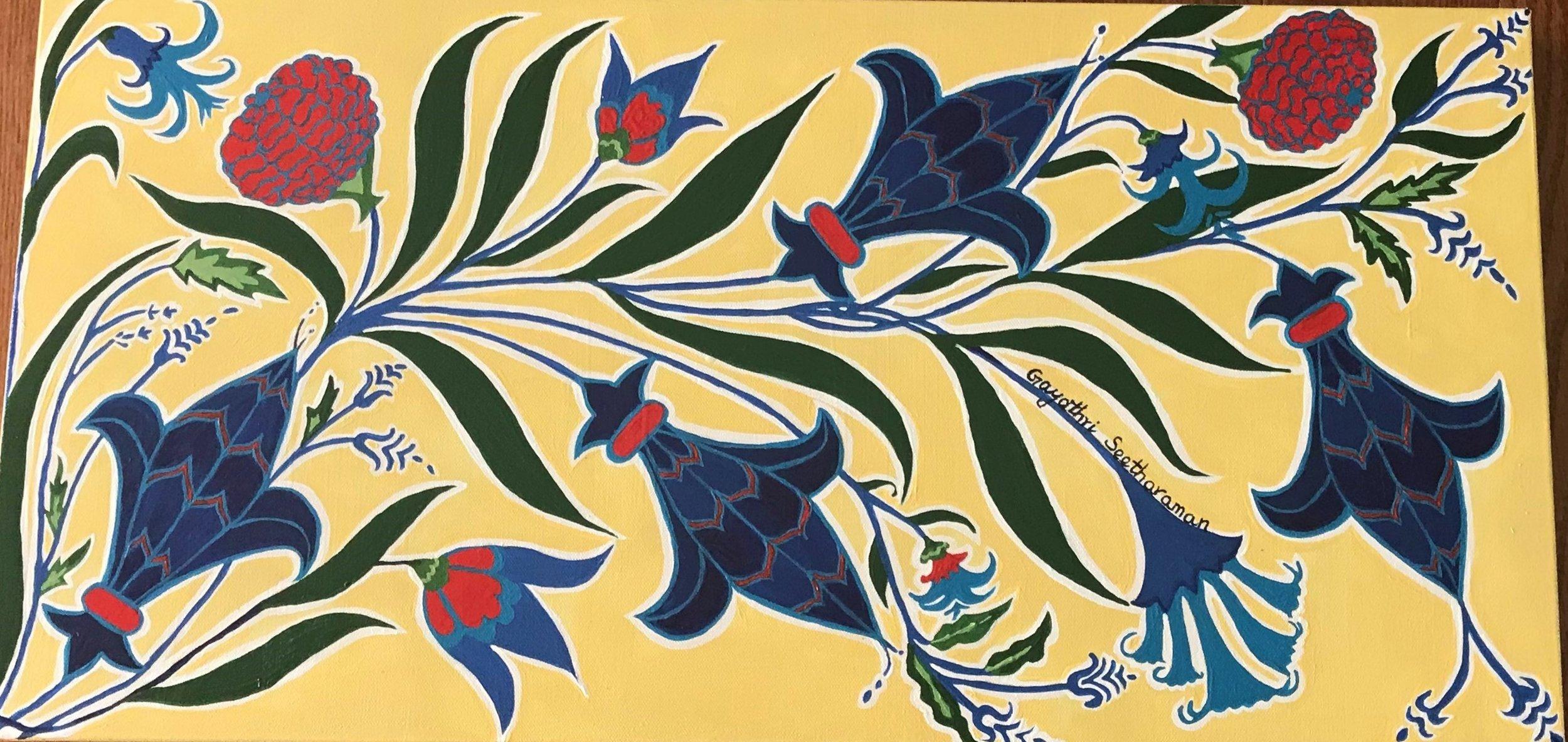 Turkish Tile in Fleur-de-lis, Gayathri Seetharaman