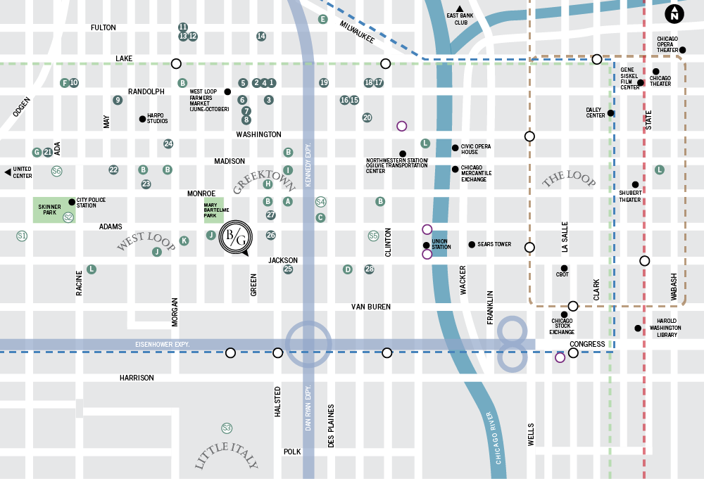West Loop Chicago Neighborhood Map