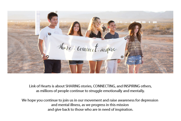 Because we believe one simple word on a piece of jewelry, is a positive, powerful daily reminder of hope... For every product you purchase, we GIVE a bracelet with an inspirational message to someone battling depression or anyone in need of inspiration, as a symbol of HOPE.