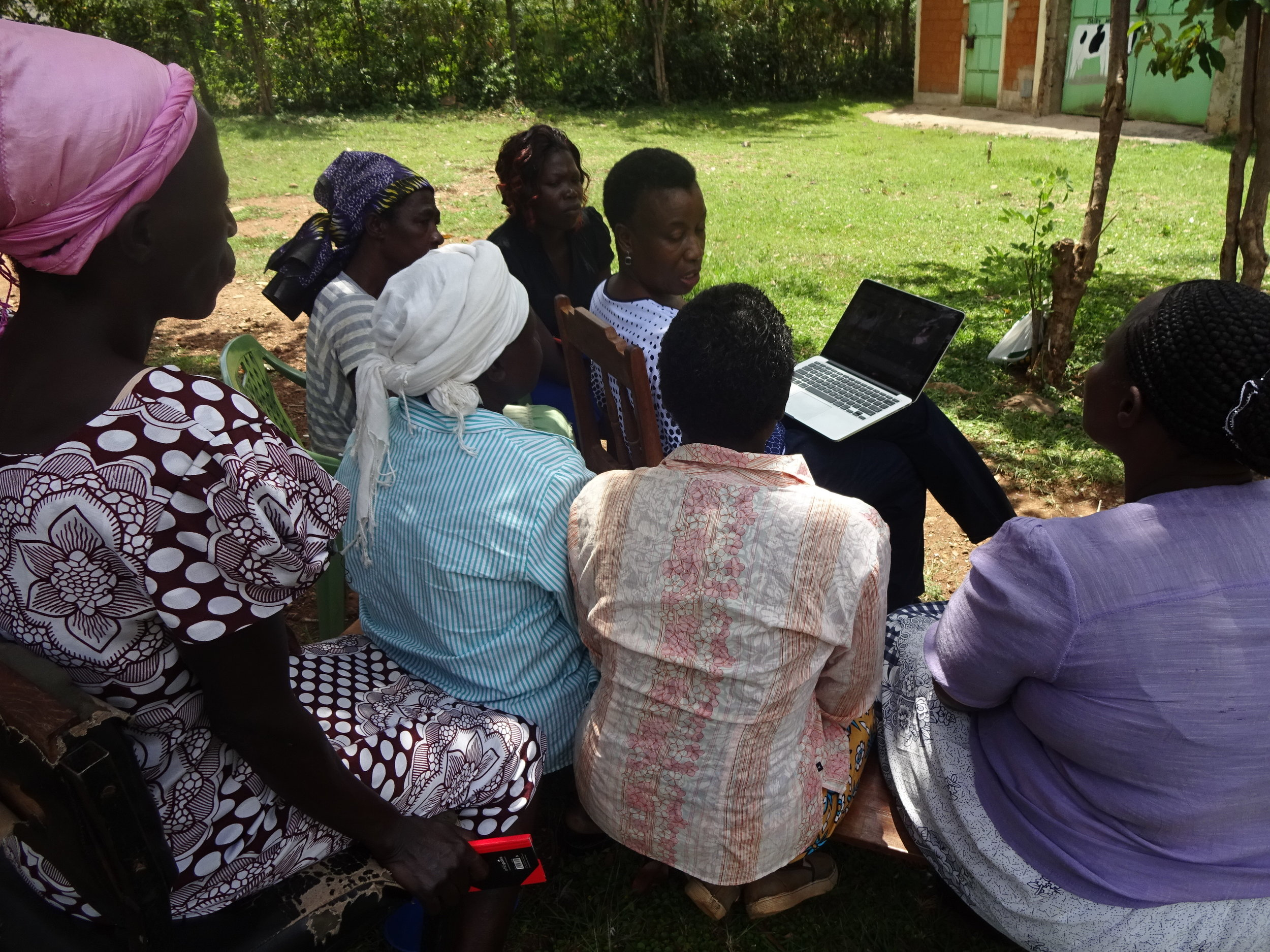 Loyce Working with Women's Farmer Group