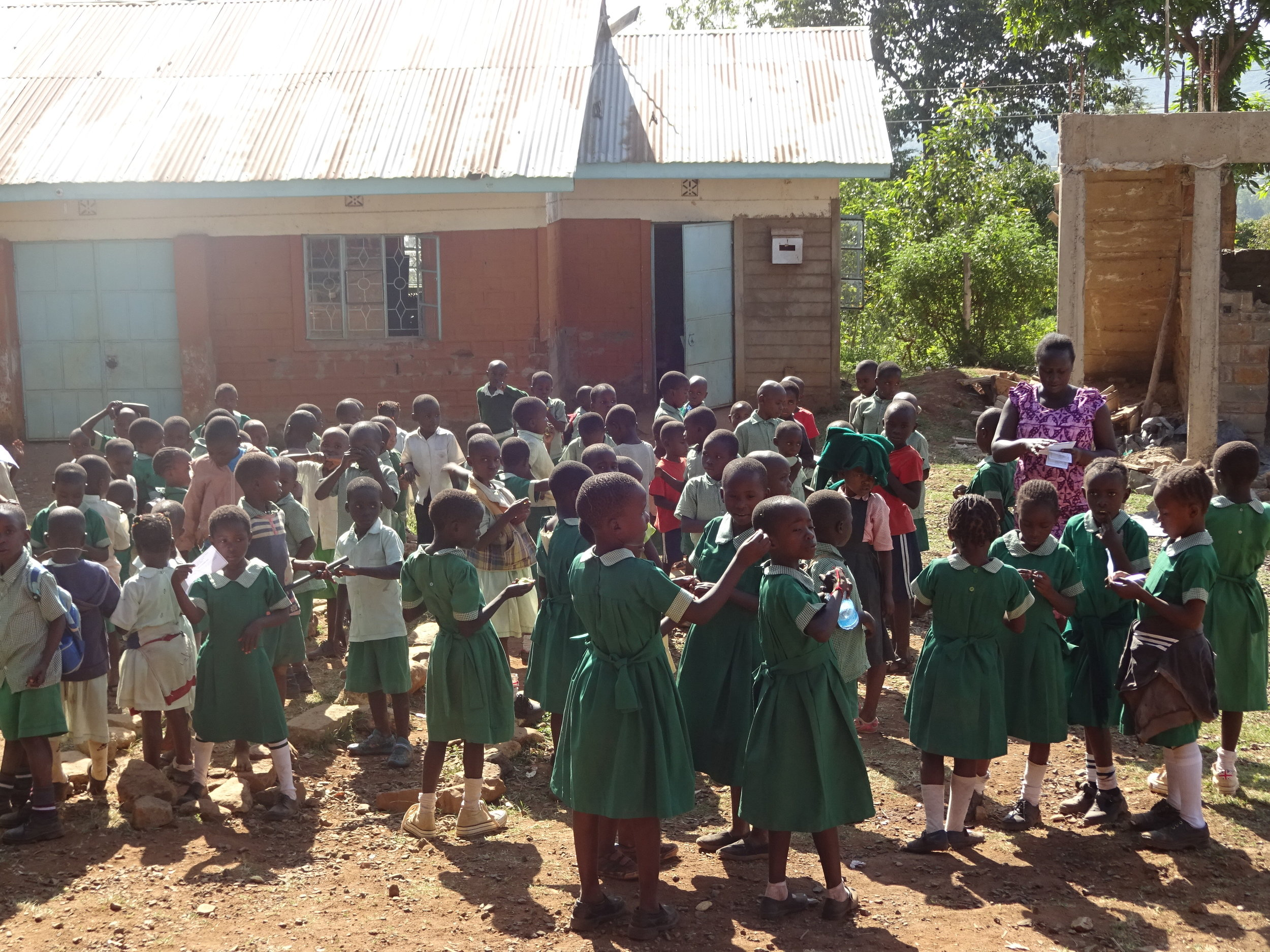Children Gathered Outside