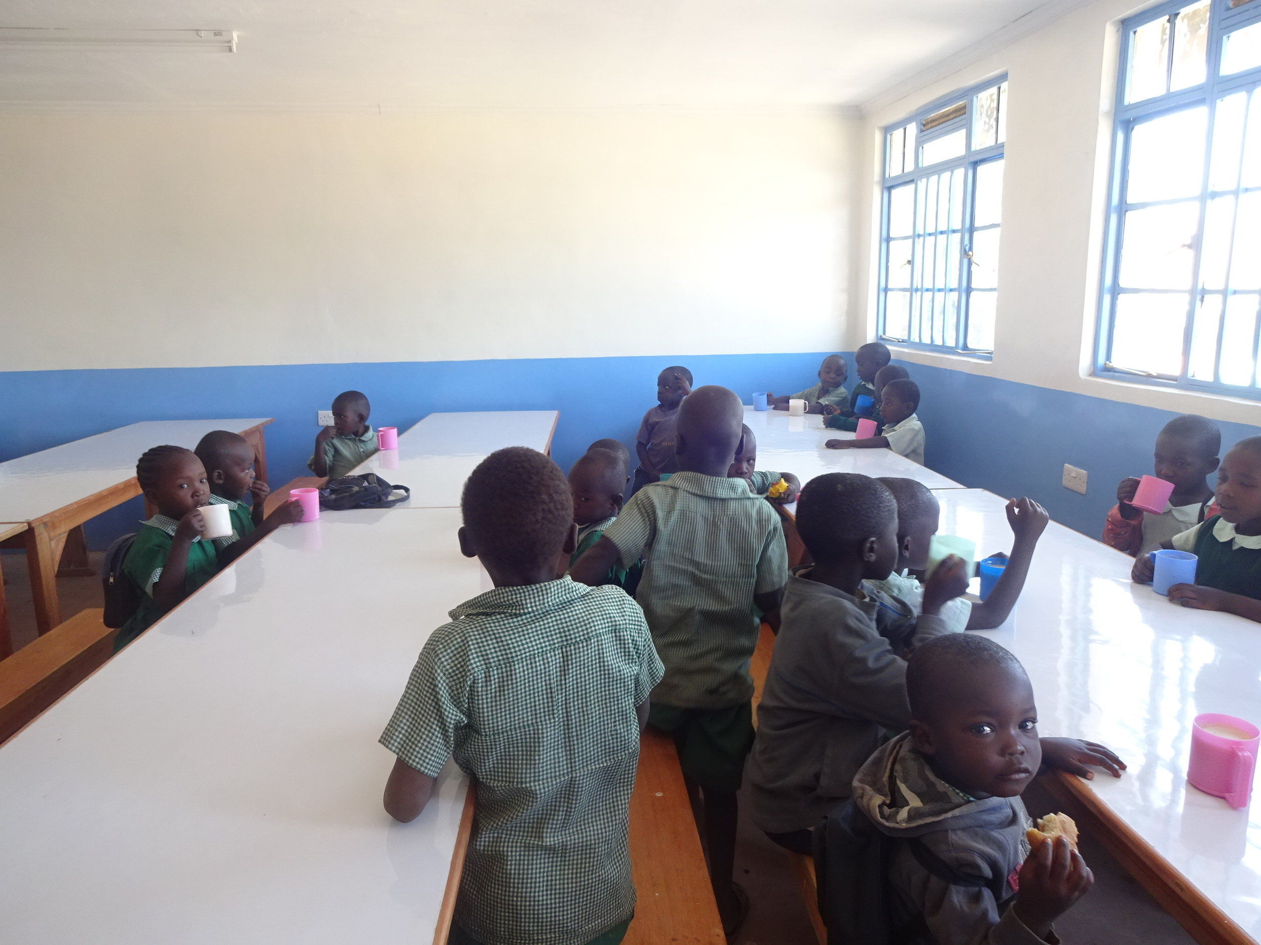 Students at Snacktime