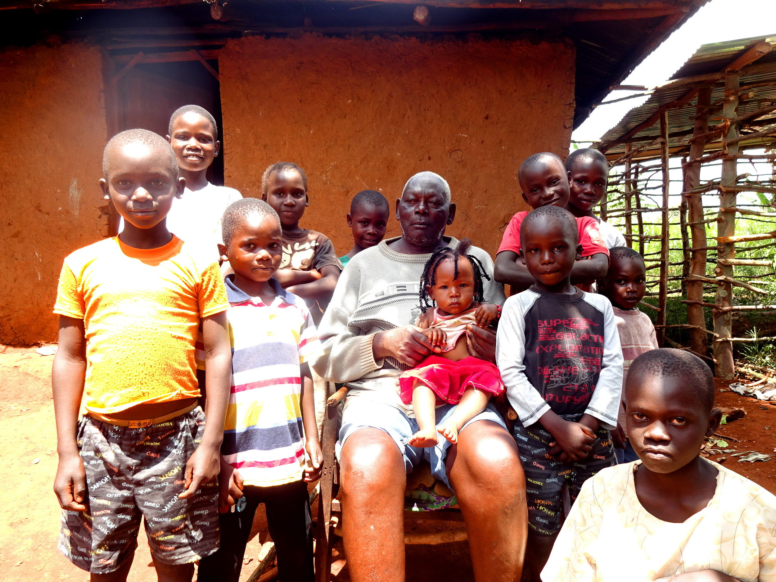 Opany and His Grandchildren