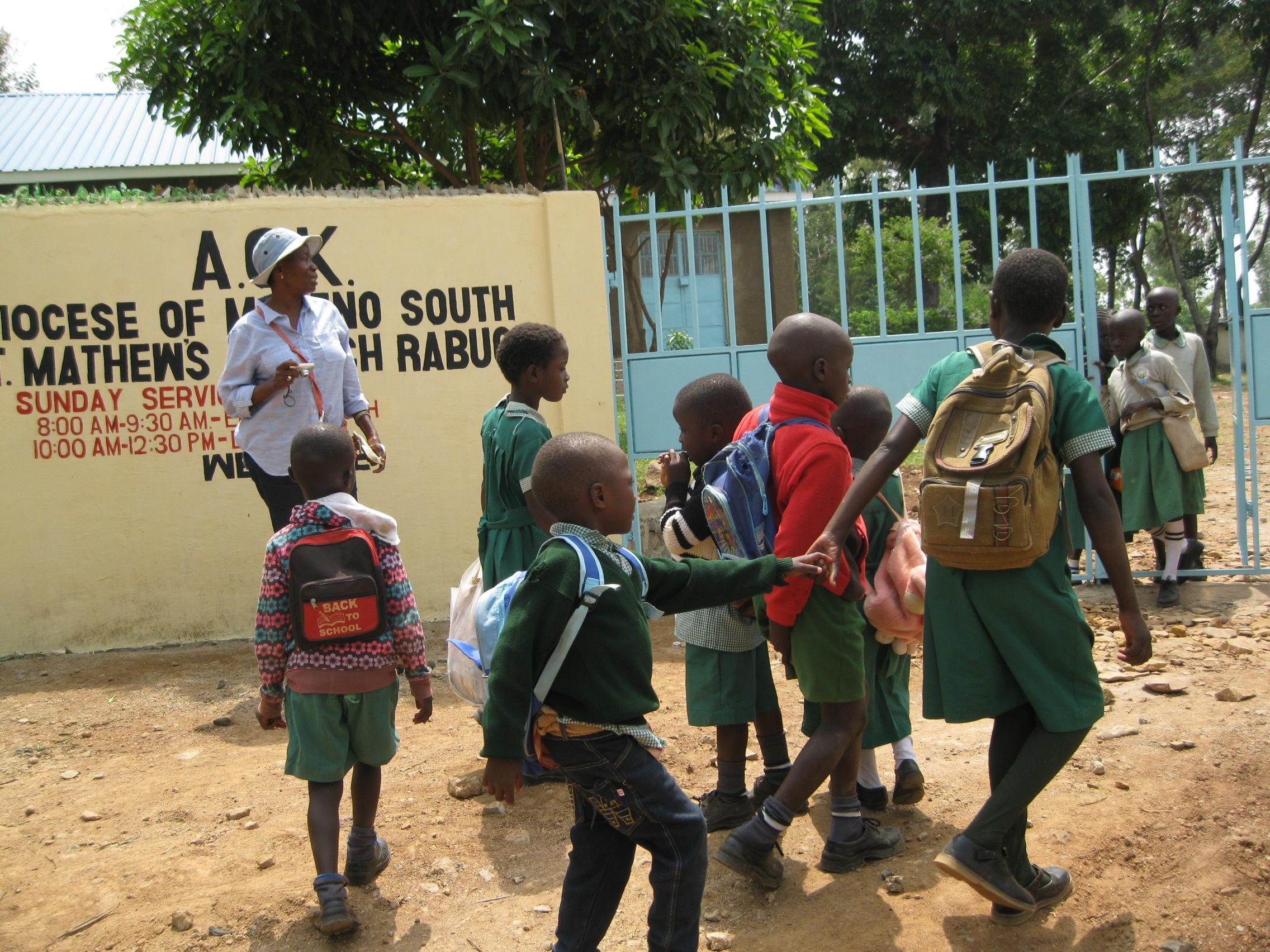 Arriving at School.JPG