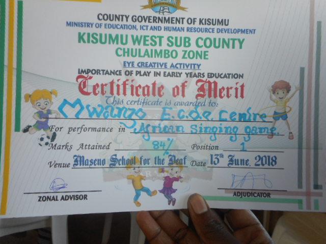 African Singing Certificate