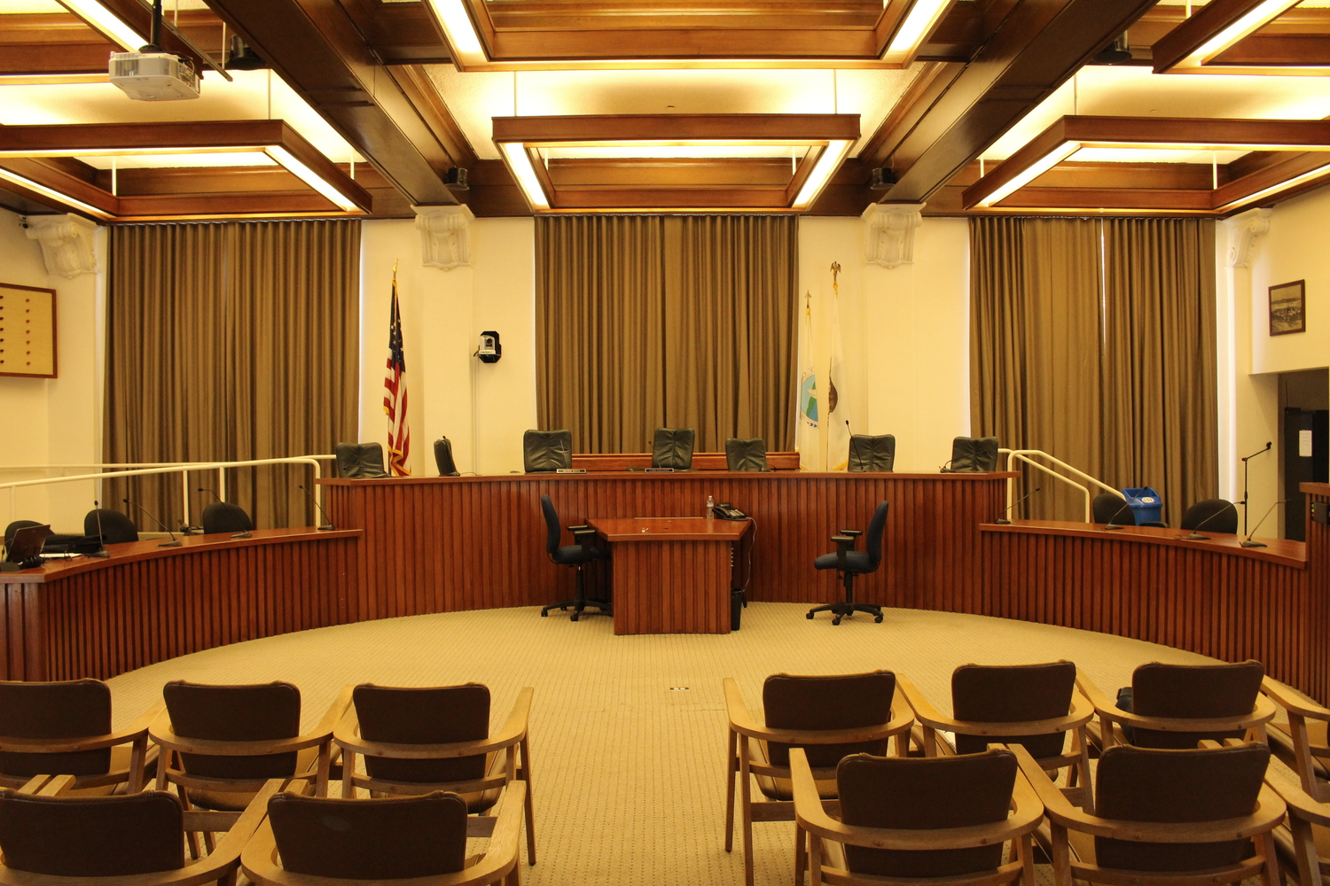 City of Martinez Council Chambers during a lighting and HVAC energy assessment.