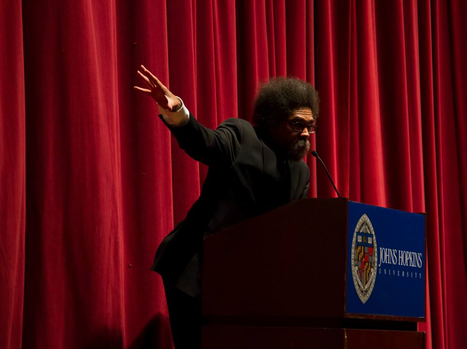 Cornel West giving an animated speech during our 2014 Symposium