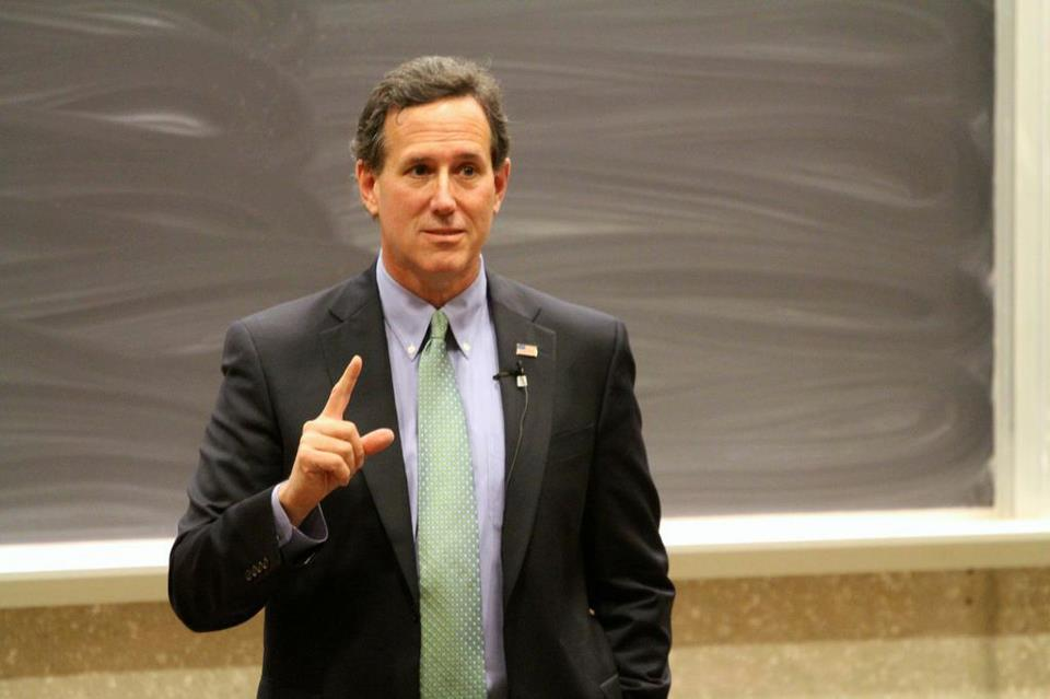 Former US Senator and Republican Presidential Candidate Rick Santorum speaks at Johns Hopkins for FAS '13 series.