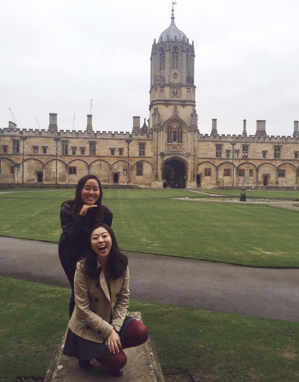 Jilliann in front of Christ Church at Oxford.