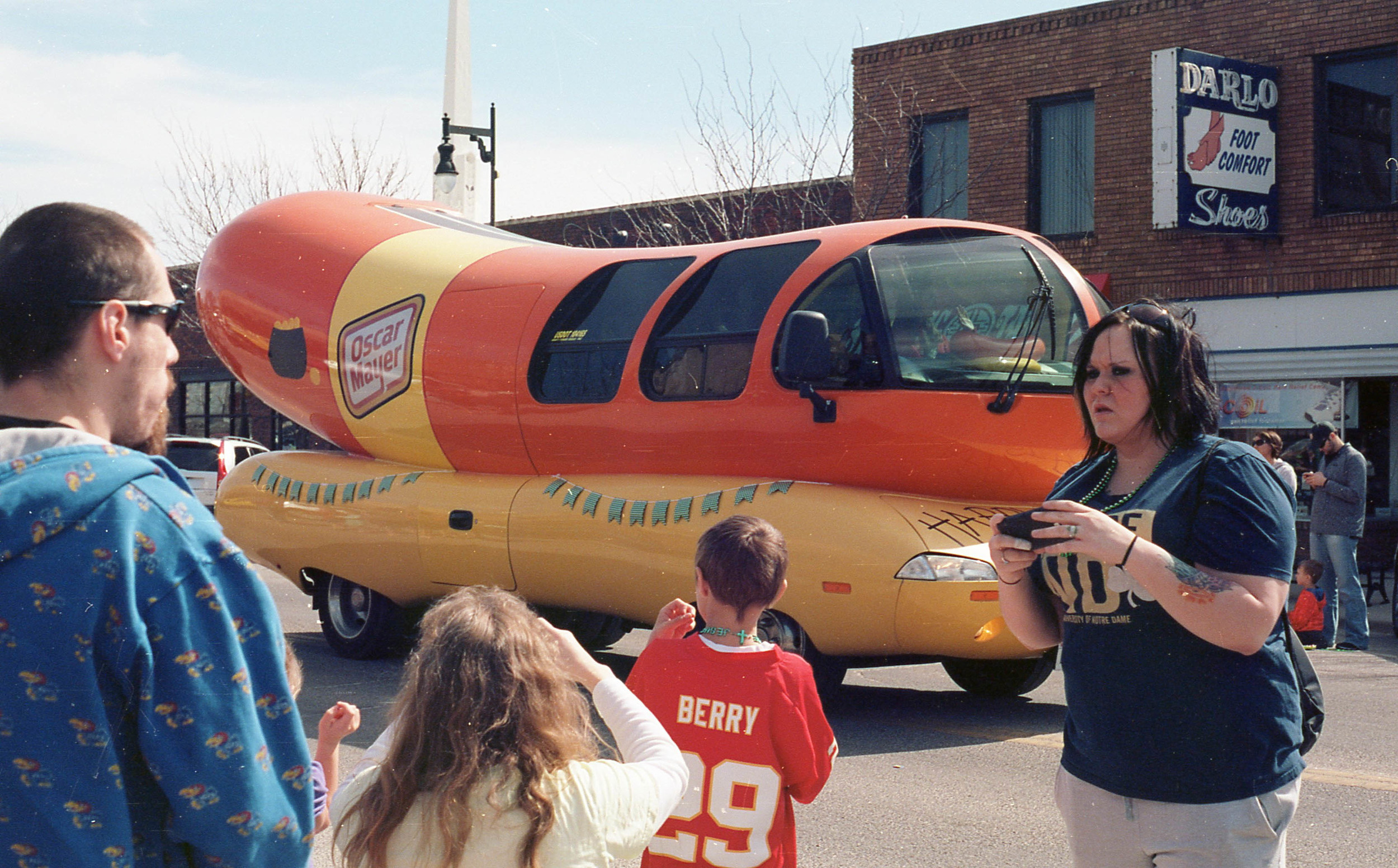 A parade isn't a parade without the Weinermobile.