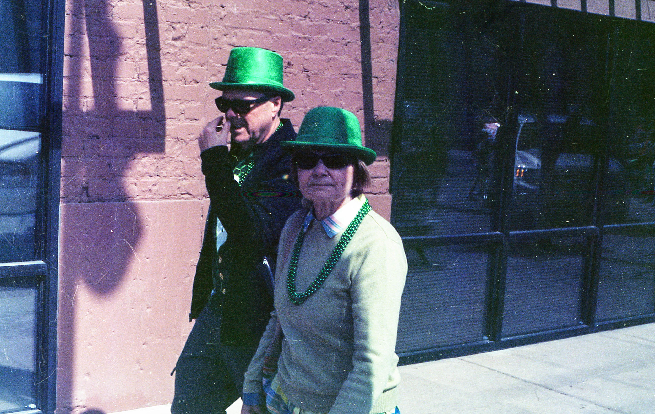 That leprechaun was digging for gold.