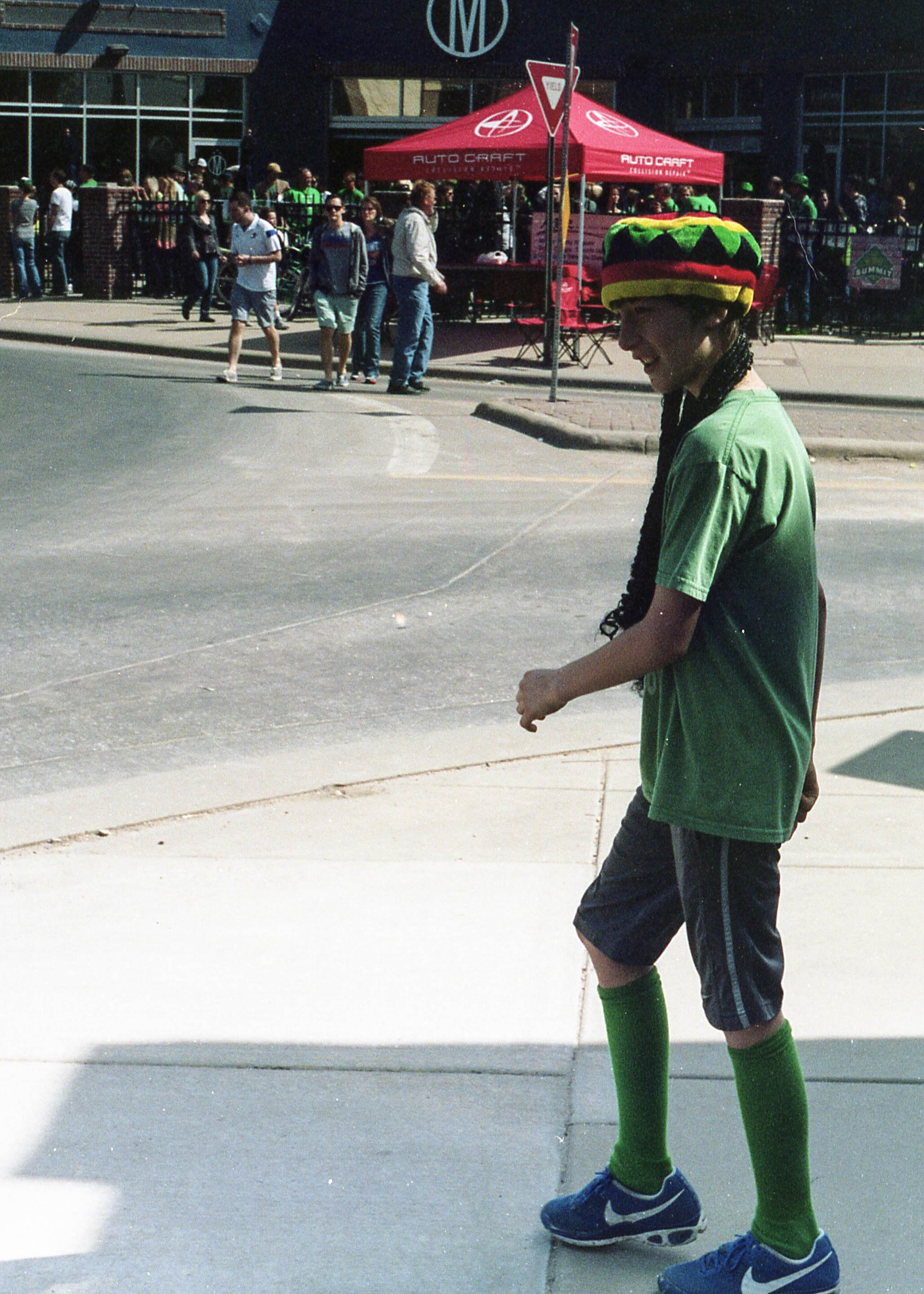 The Rasta-Irish were represented well at the st. Patty's Day parade.