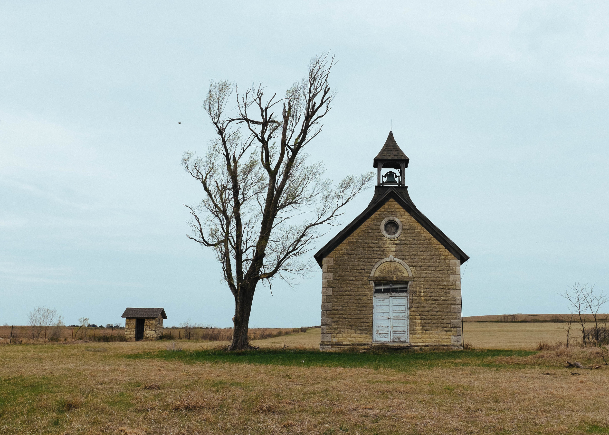 One room school house outside of Florence, Kansas.