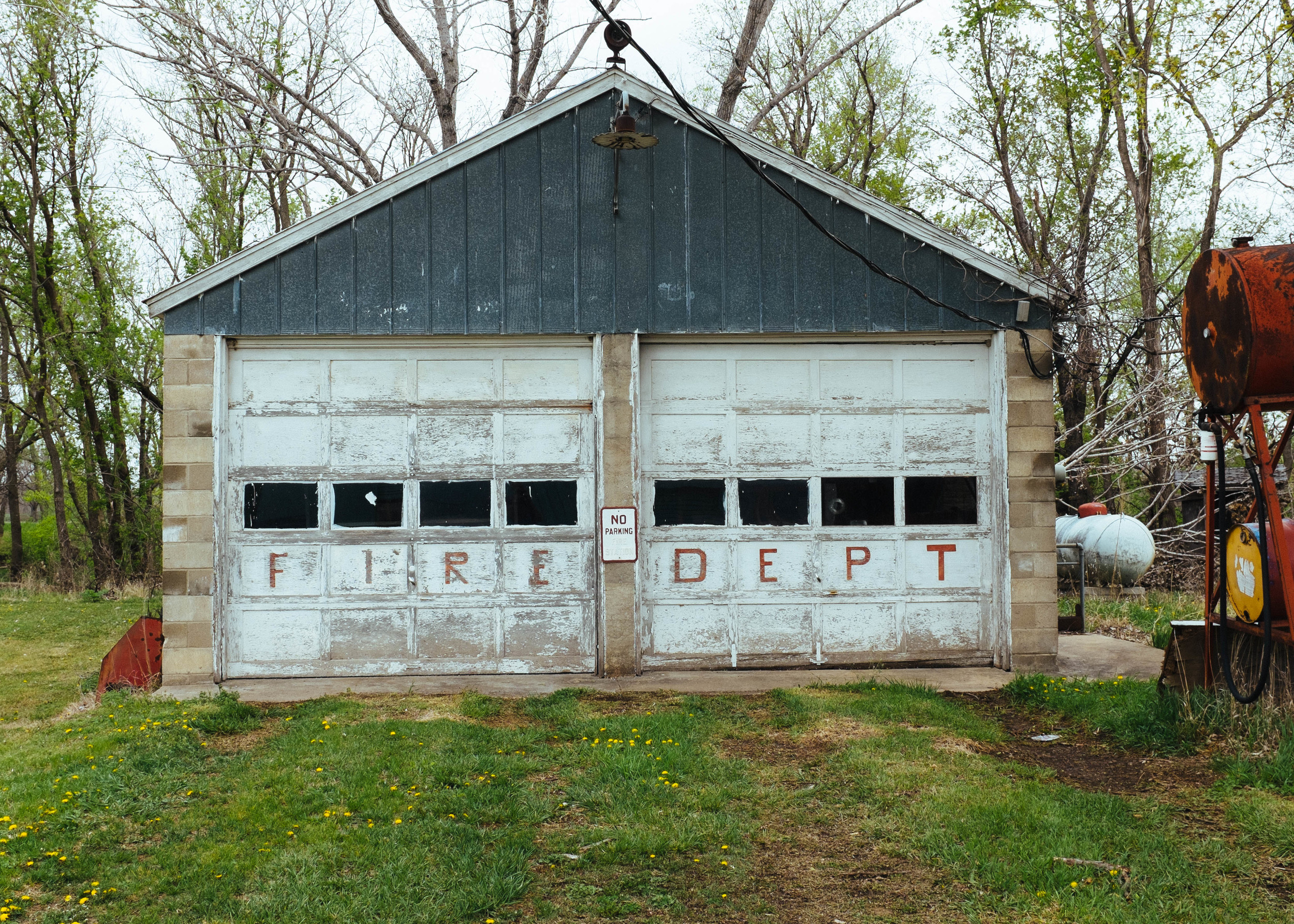 Cedar Point, Kansas fire station.