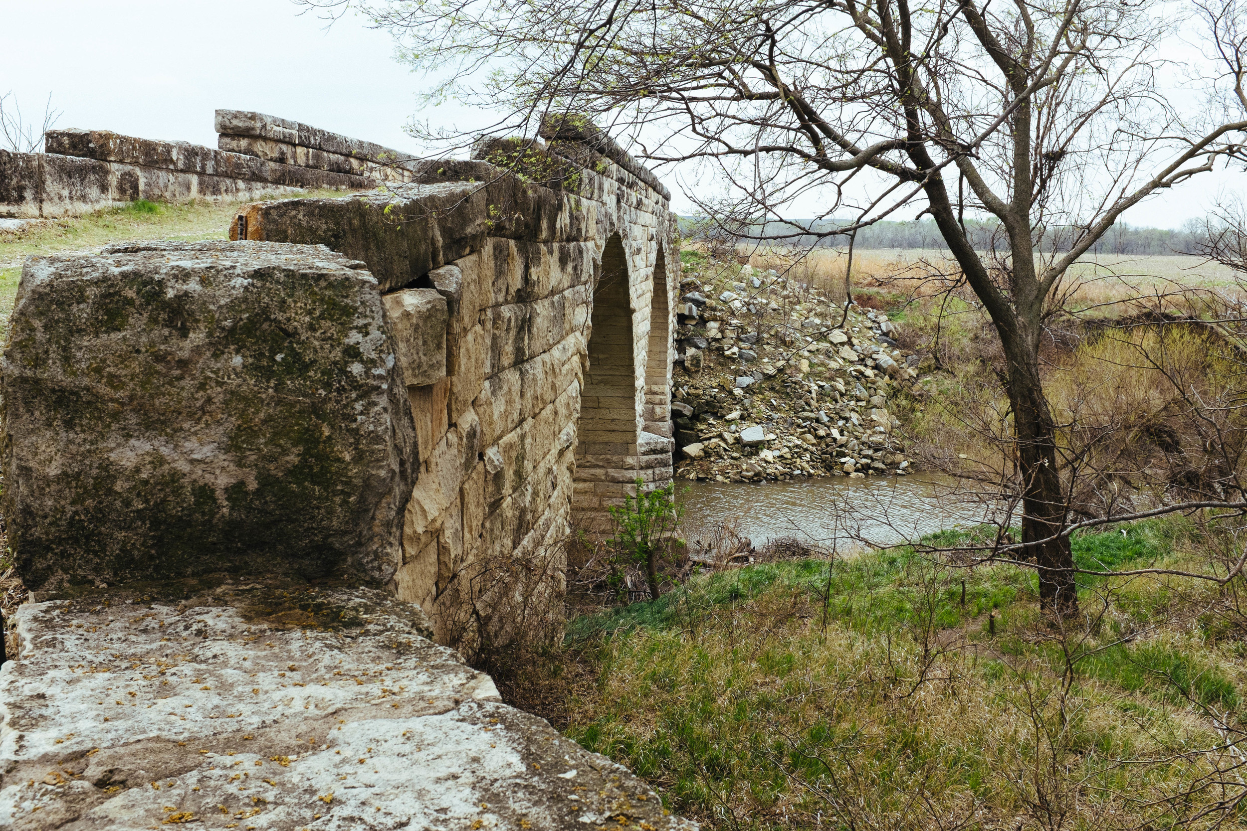 The stone bridge near Clements.