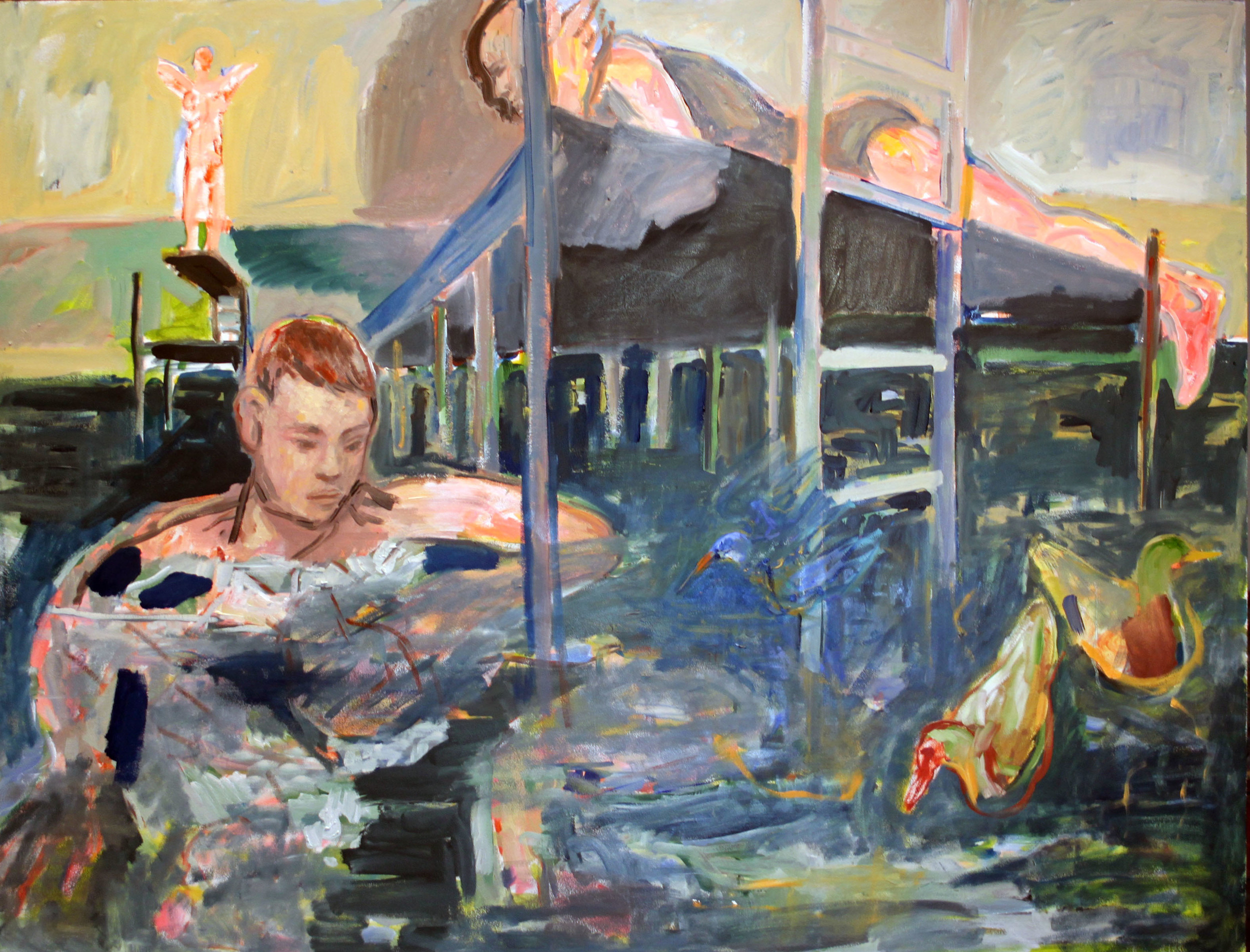 SOLD    Oil on Board     970mm x 1240mm.