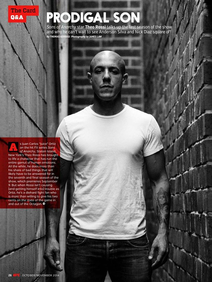 Theo Rossi for UFC magazine