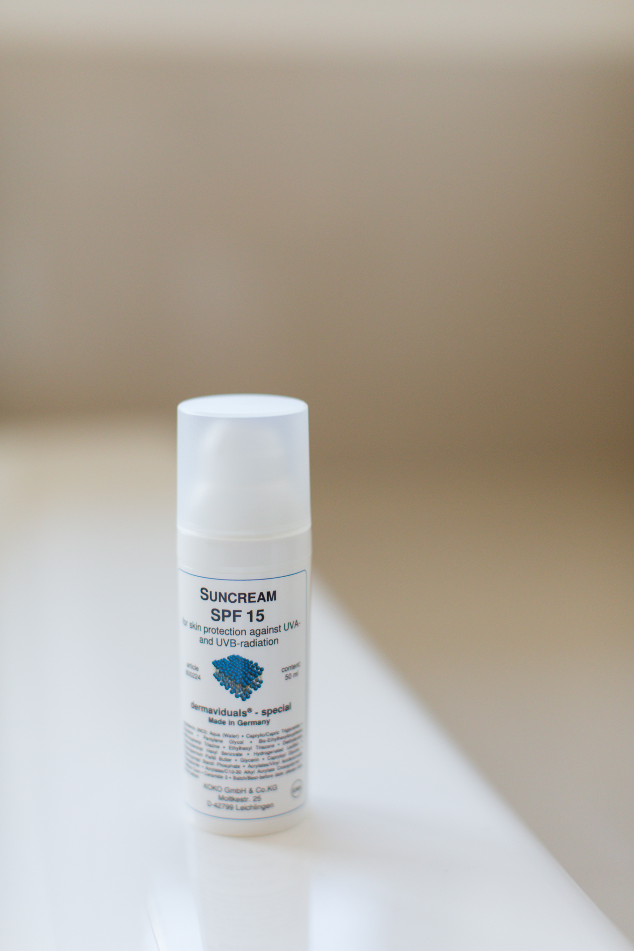 dermaviduals Suncream SPF 15, $55