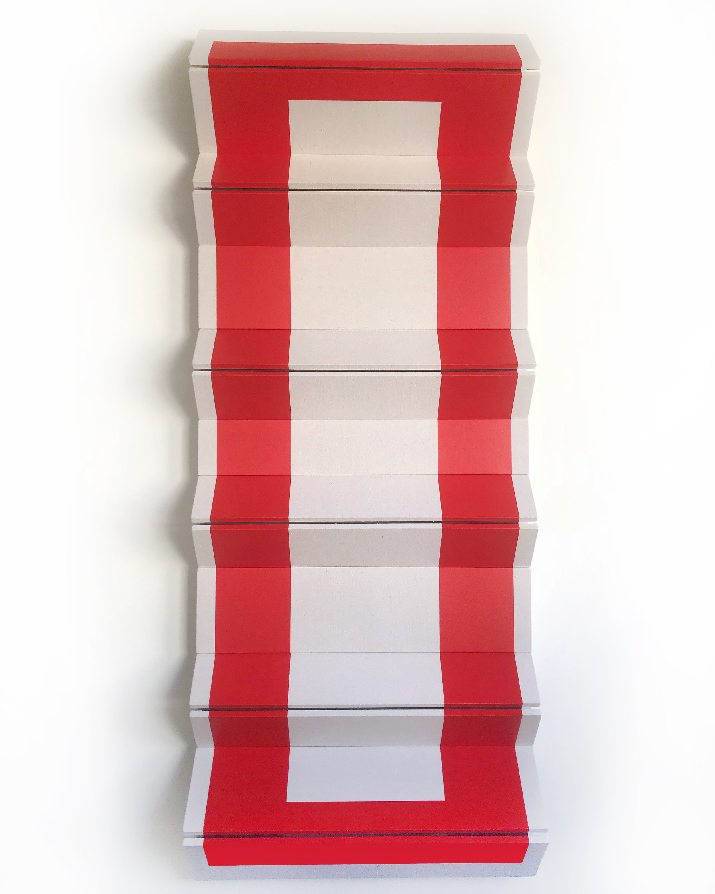 "Untitled Red Stack - 90"" x 36"" x 9"""