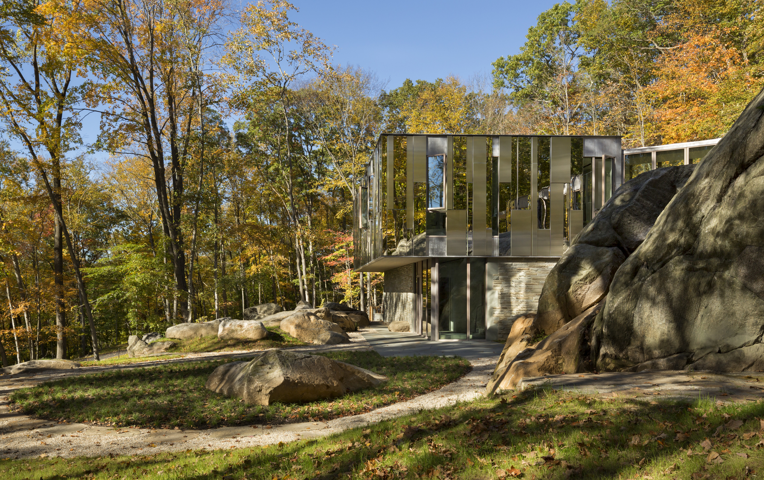 Private Modern Steel Home