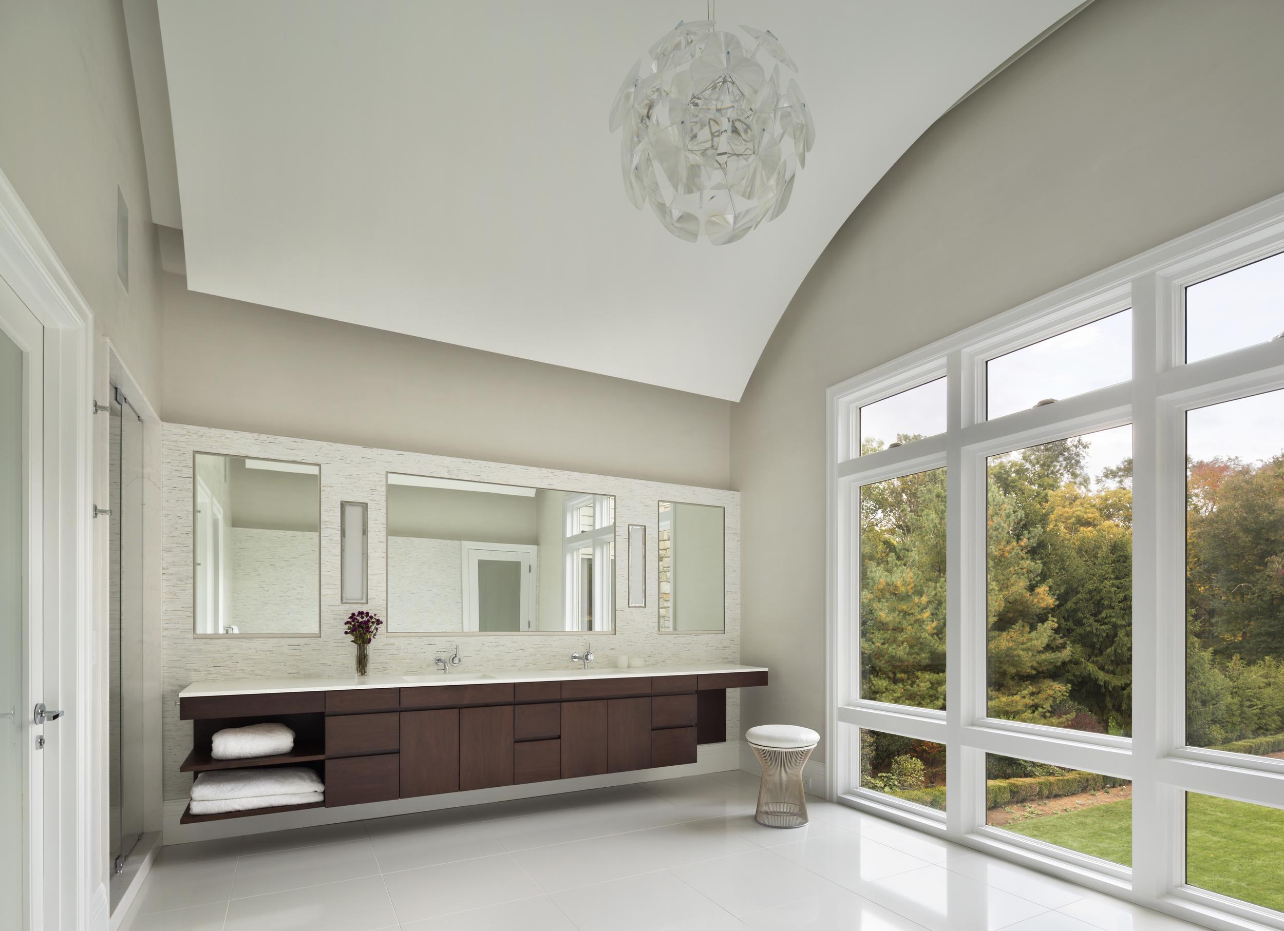 custom luxury traditional bright bathroom