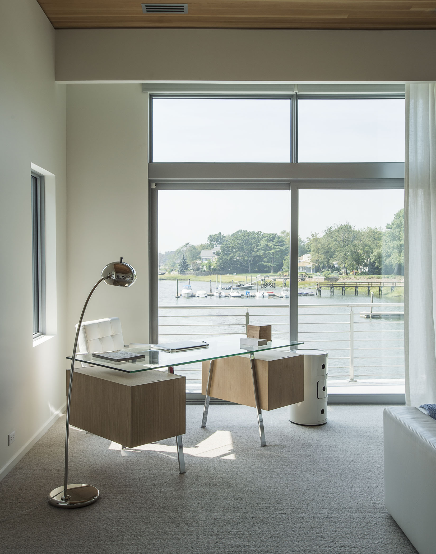 peaceful home office by the water