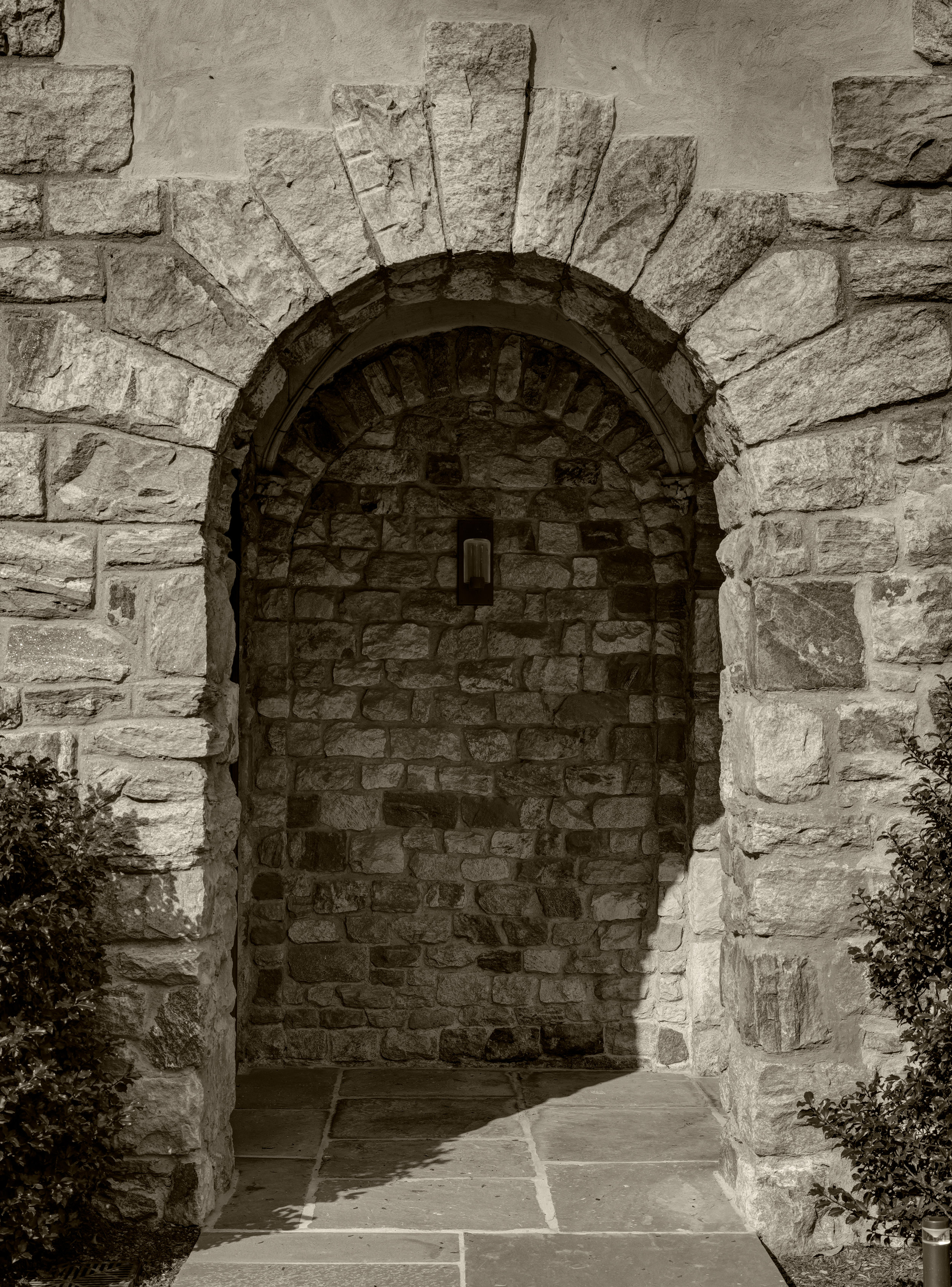 keystone black and white doorway belfry bell tower