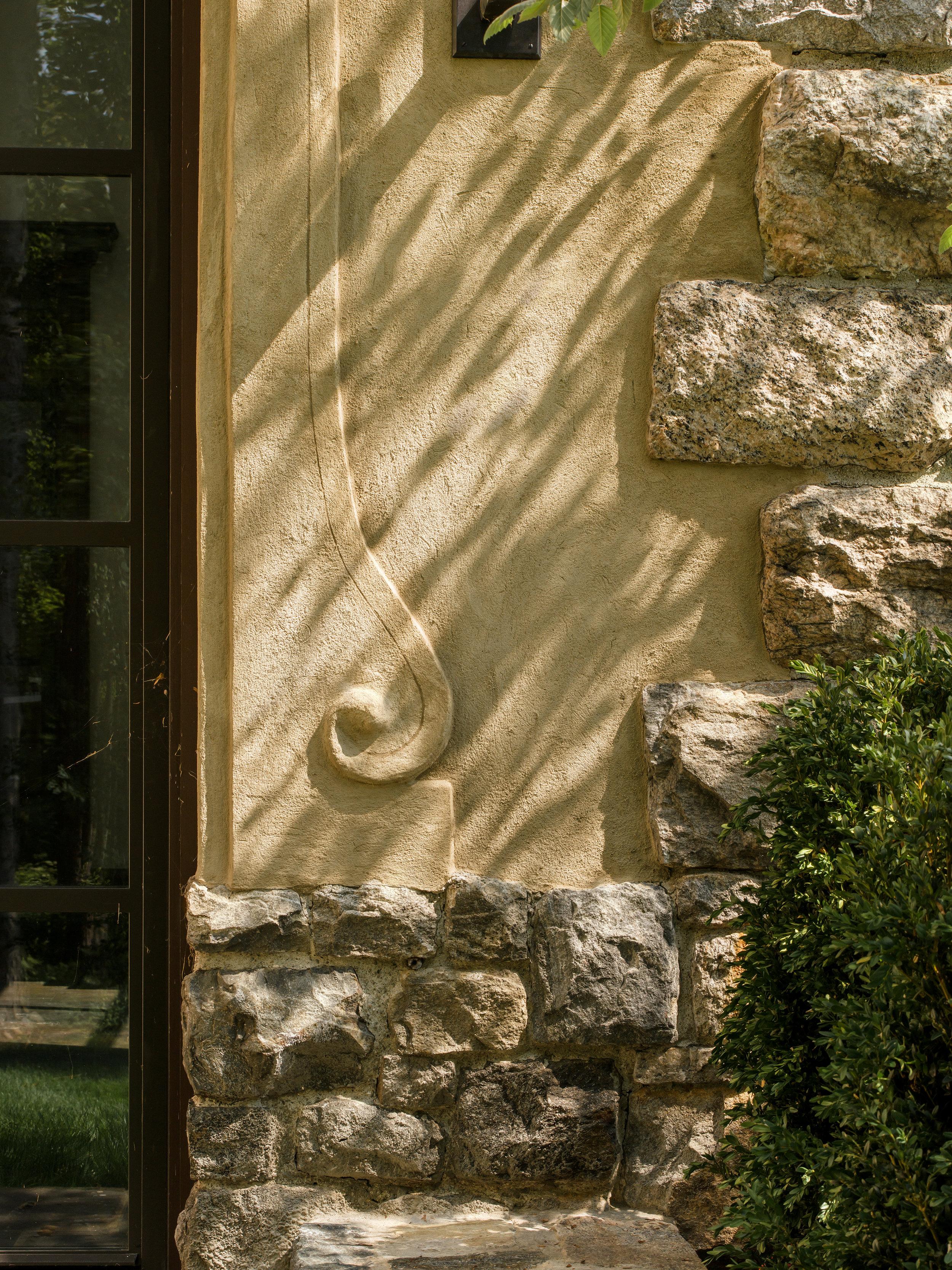 custom luxury stucco work detail siding