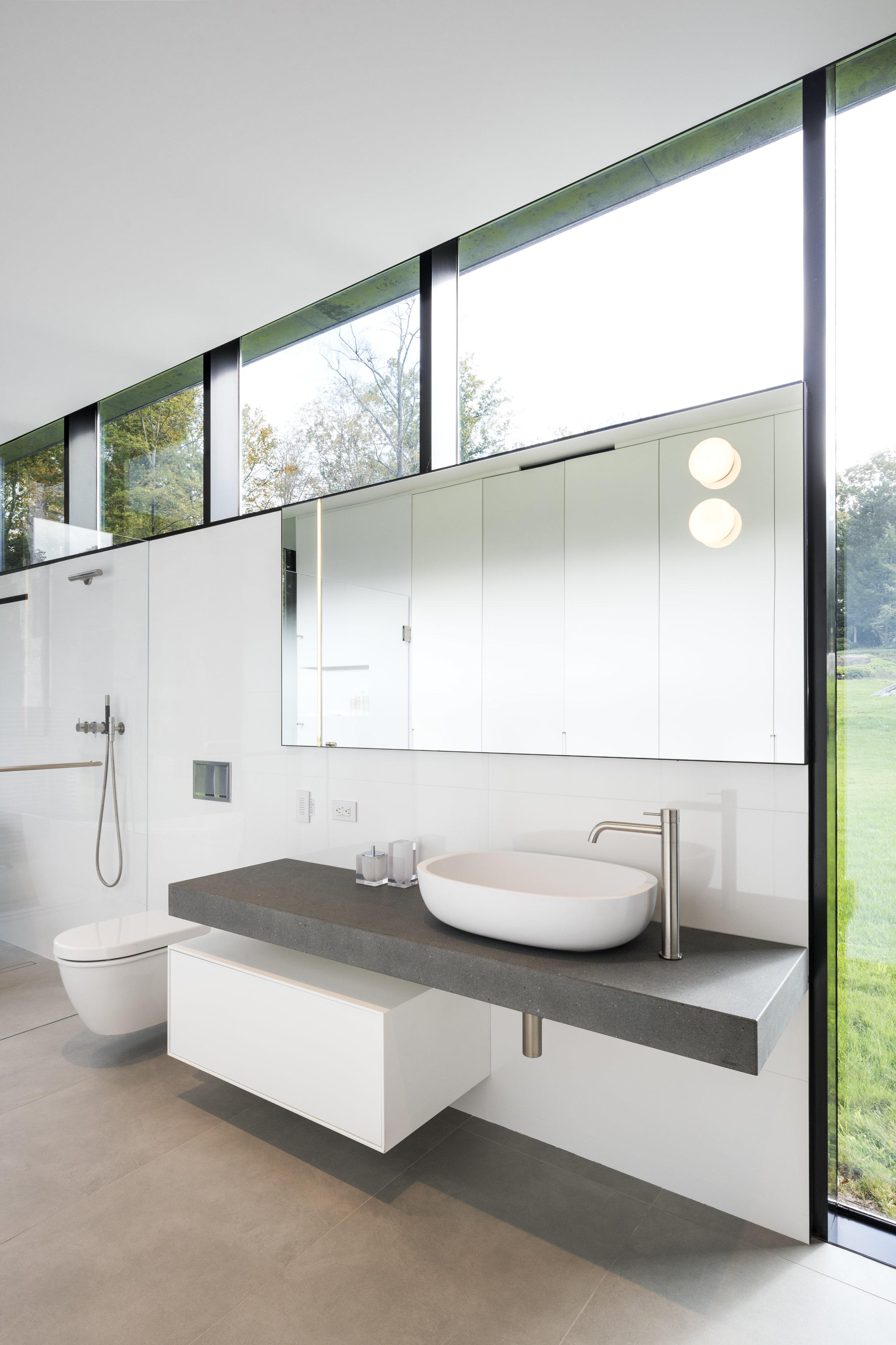 Luxury Bathroom with Stone countertop