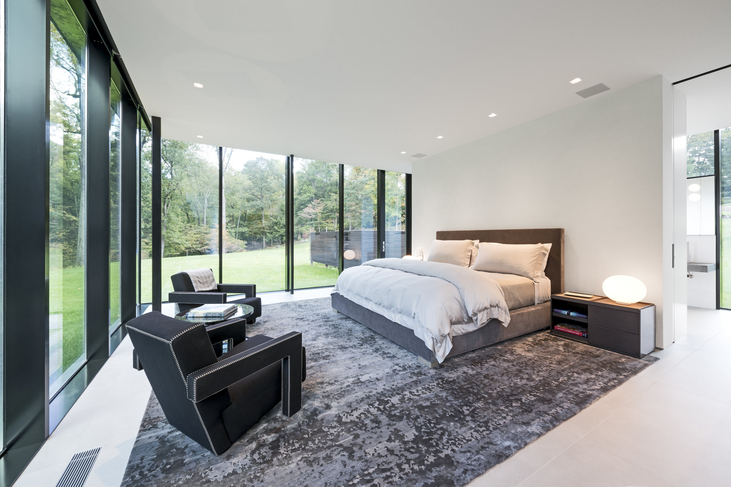 Open modern luxury bedroom interior design